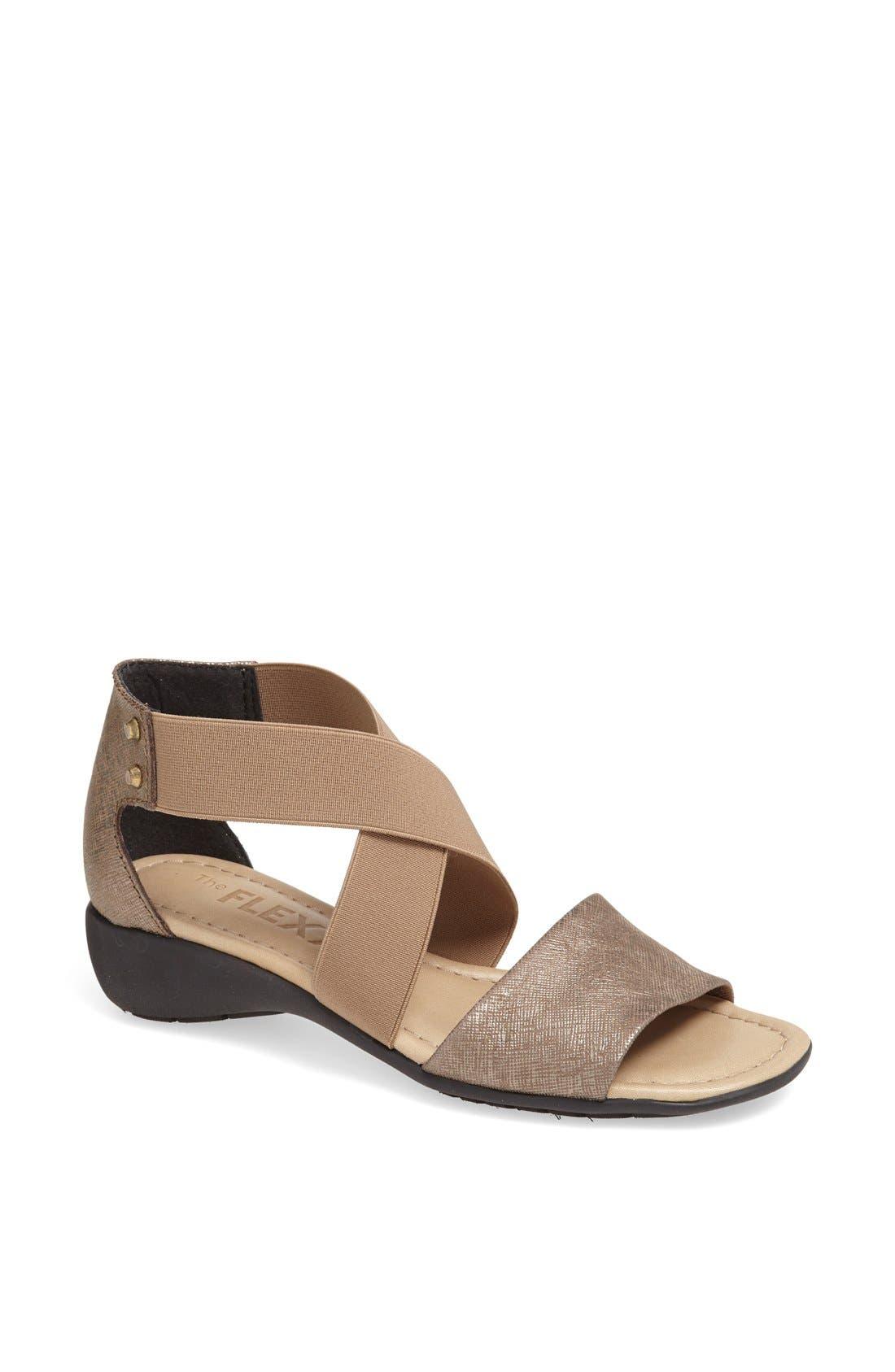Alternate Image 1 Selected - The FLEXX 'Sunglass' Leather & Elastic Sandal
