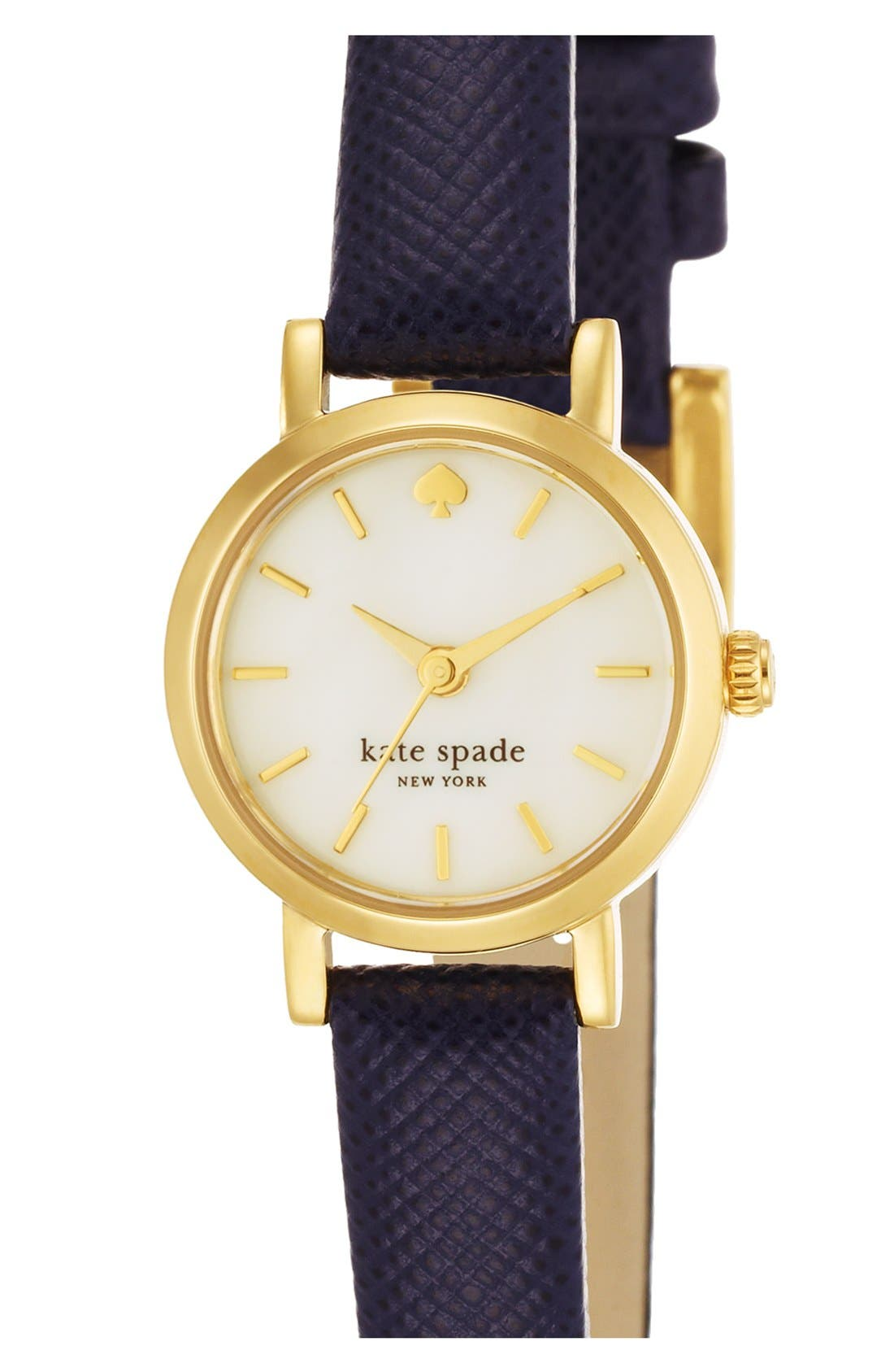 Alternate Image 3  - kate spade new york 'tiny metro' leather strap watch, 20mm