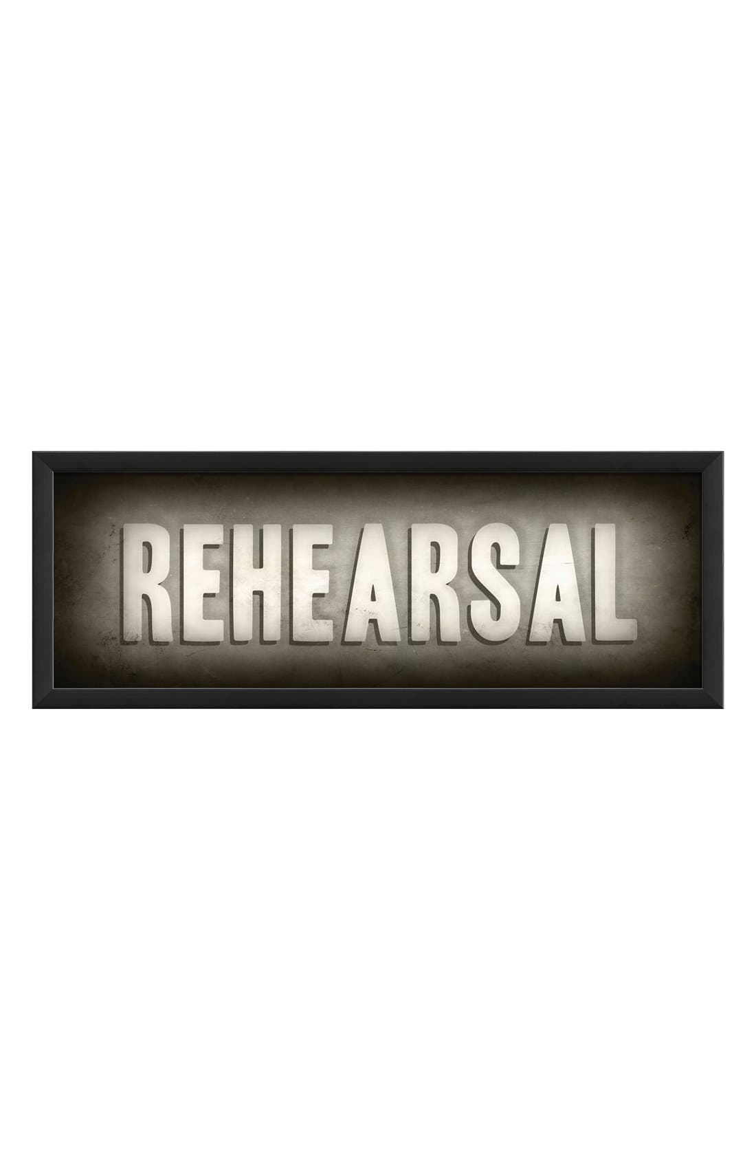 Alternate Image 1 Selected - Spicher and Company 'Rehearsal' Vintage Look Theater Sign Artwork
