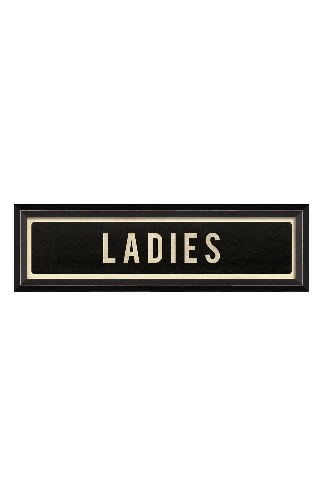 Main Image - Spicher and Company 'Ladies' Vintage Look Sign Artwork