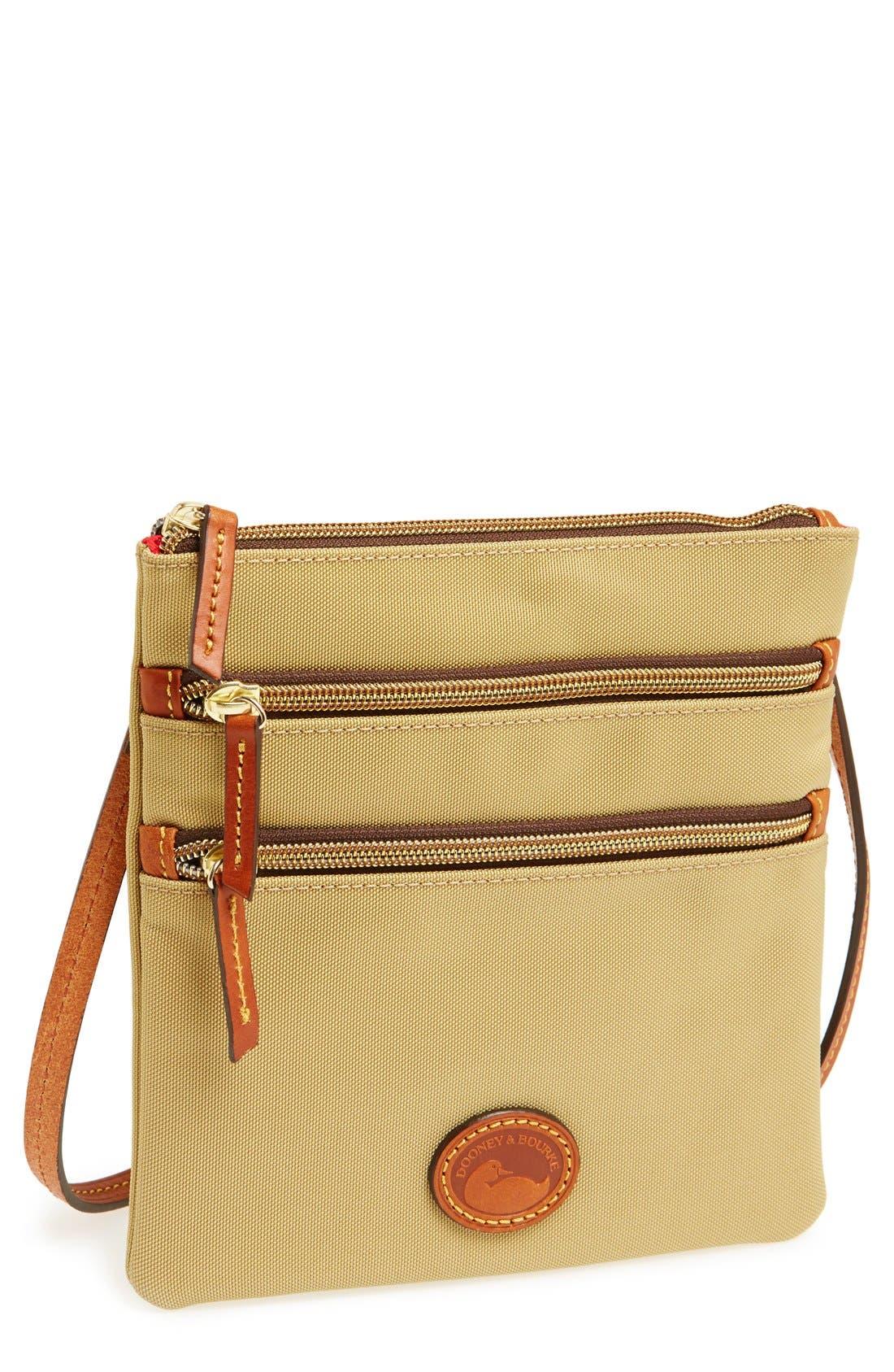 Alternate Image 1 Selected - Dooney & Bourke Triple Zip Nylon Crossbody Bag
