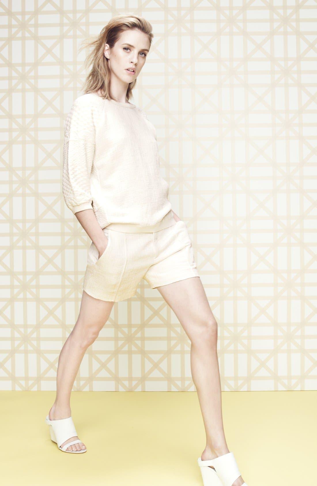 Alternate Image 1 Selected - Vince Jacquard Sweatshirt & Shorts