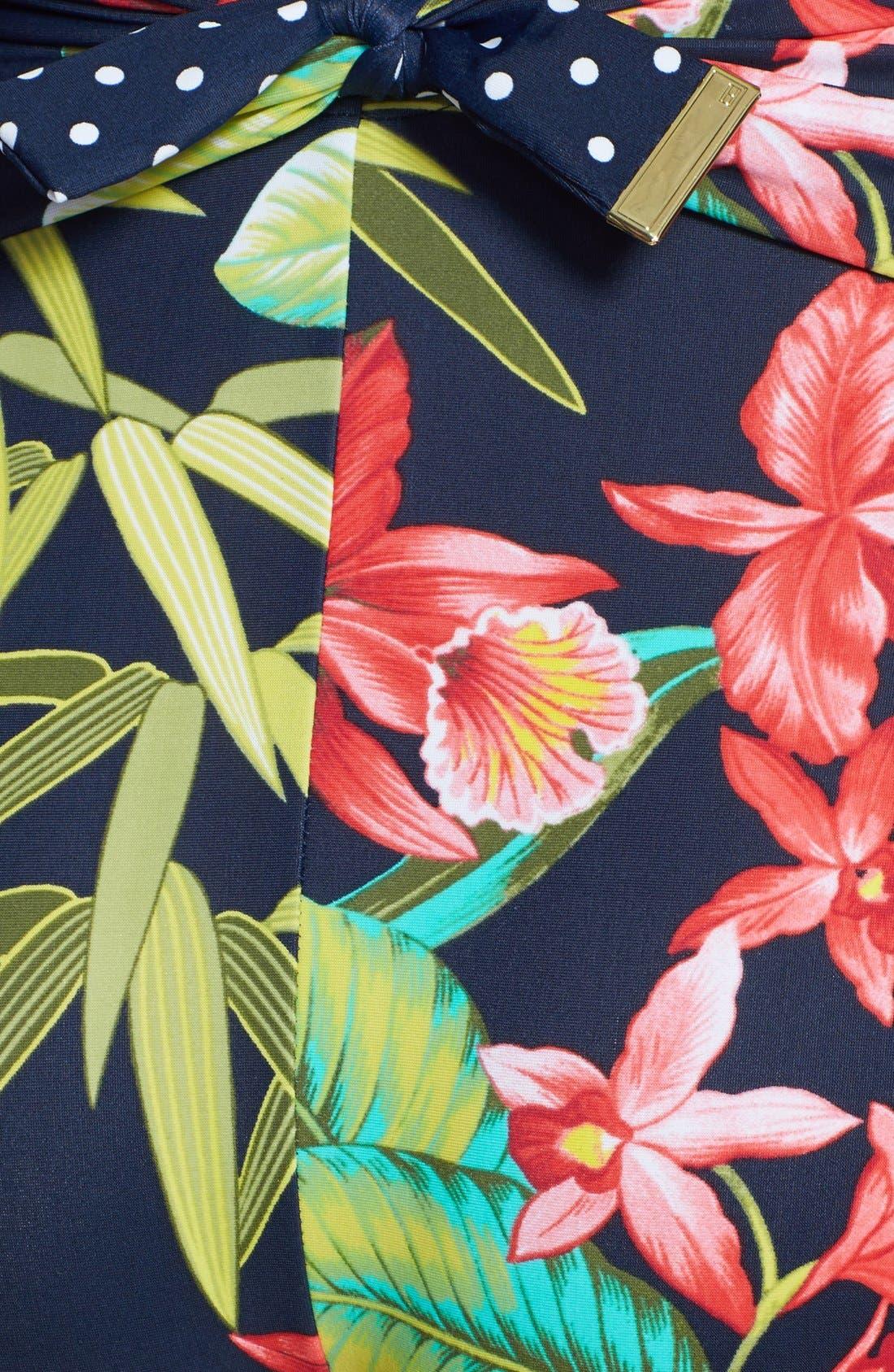 Alternate Image 3  - Tommy Hilfiger Floral Tie Back Maillot