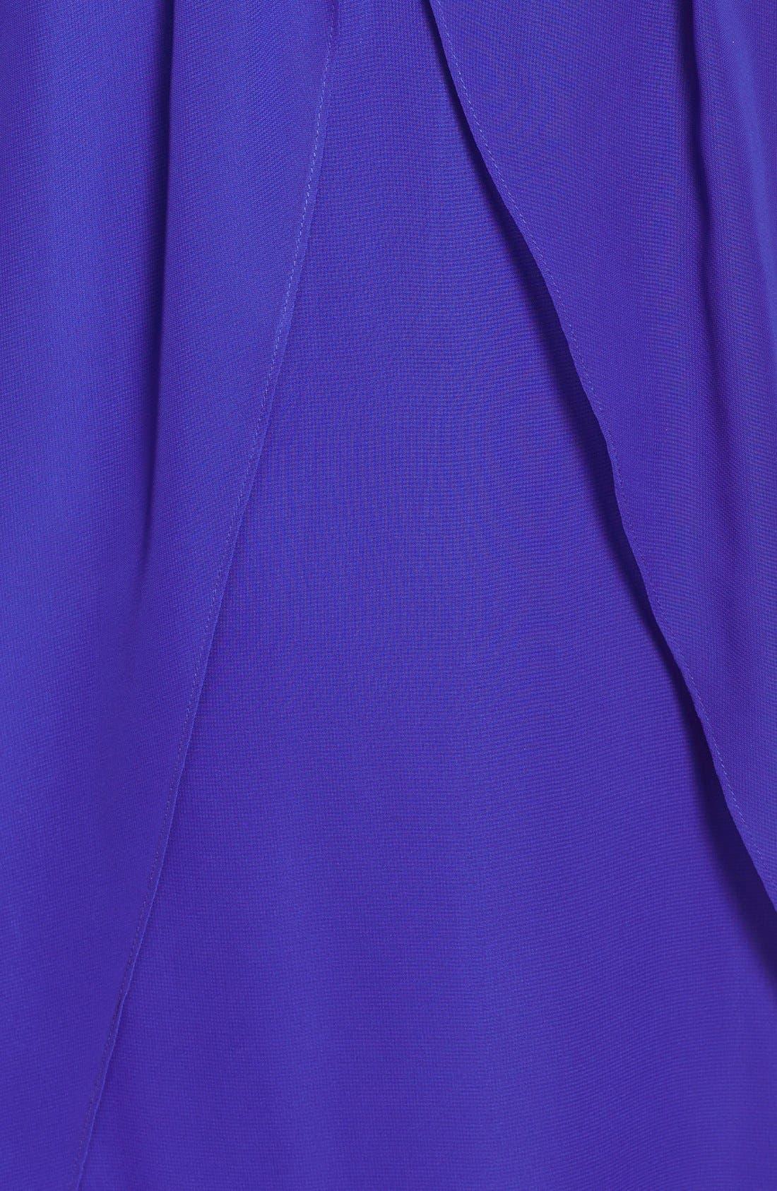 Alternate Image 4  - Hailey Logan Embellished Strap Flutter Dress (Juniors) (Online Only)