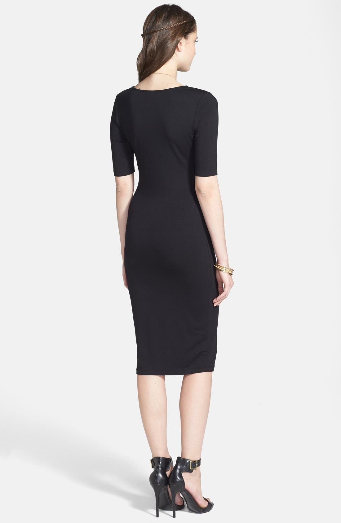 Alternate Image 2  - Soprano 'Lucy' Midi Length Body-Con Dress (Juniors)
