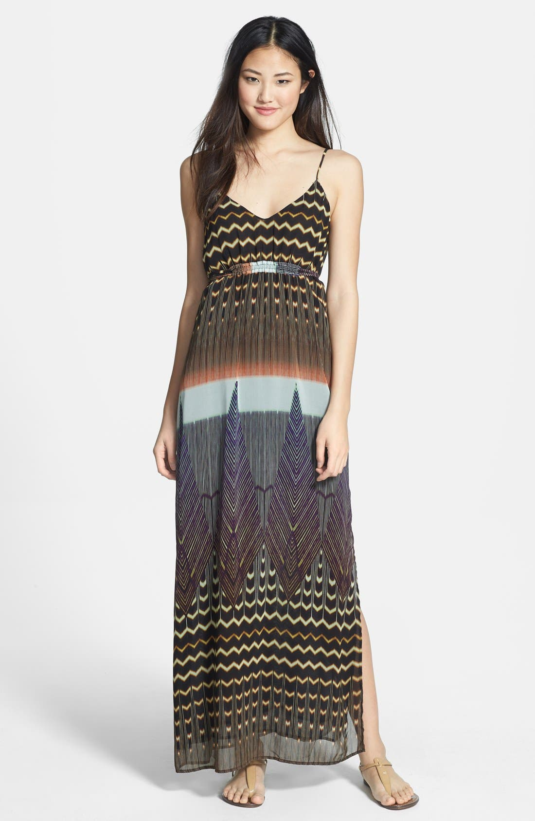 Alternate Image 1 Selected - Charlie Jade 'Madison' Silk Maxi Dress
