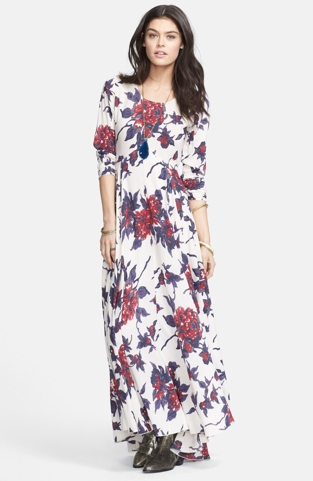 Main Image - Free People 'First Kiss' Cotton Maxi Dress