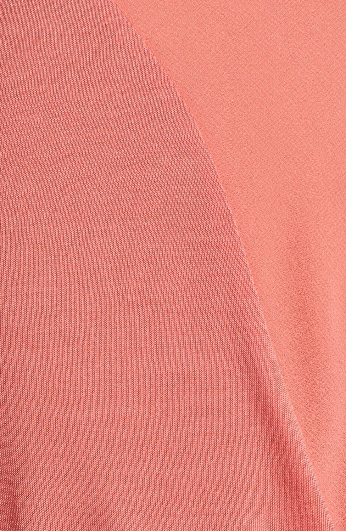 Alternate Image 3  - NYDJ Sheer Yoke Short Sleeve Top