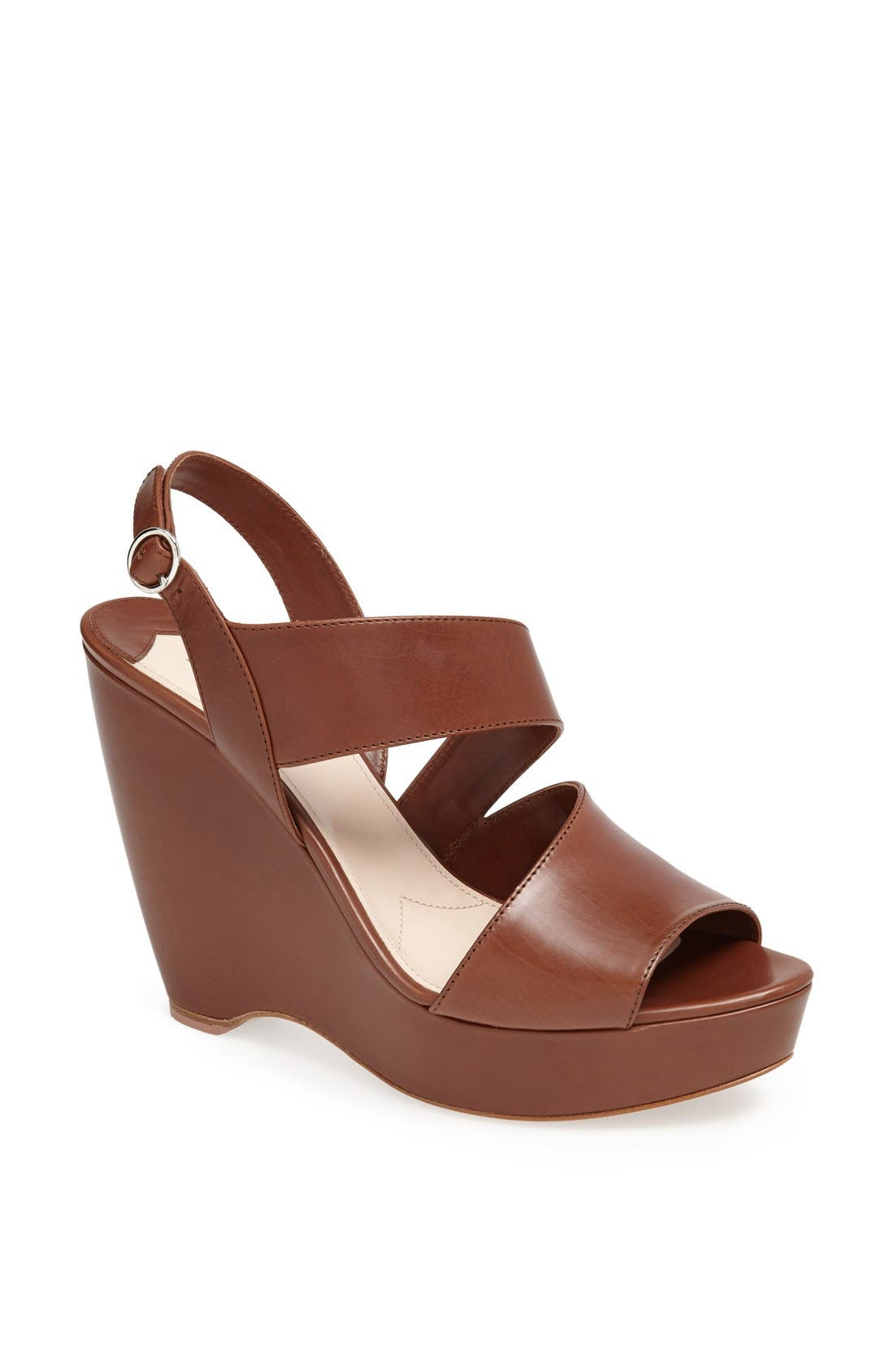 Alternate Image 1 Selected - Prada Asymmetrical Wedge Sandal