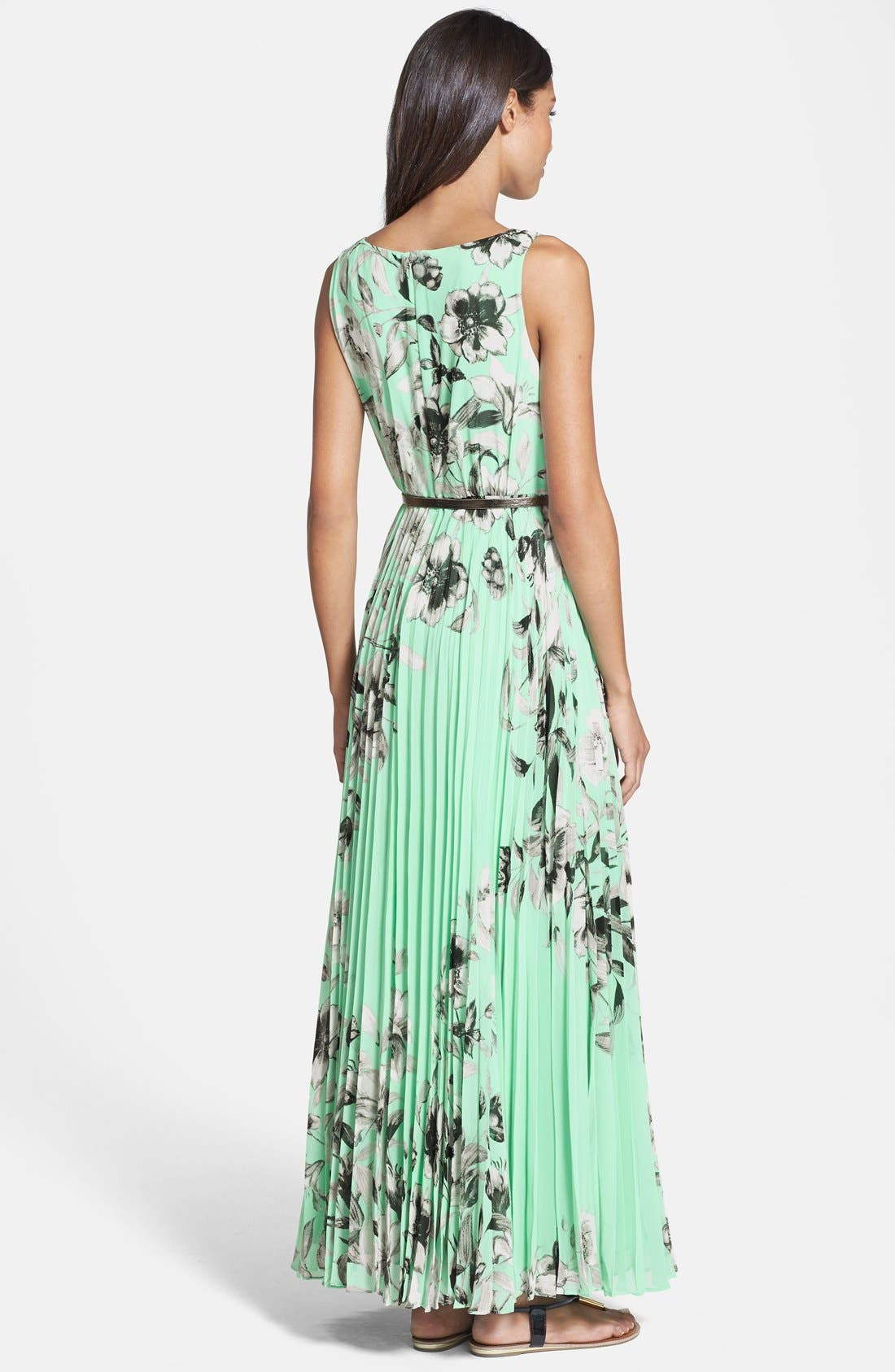 Alternate Image 2  - Eliza J Print Chiffon Maxi Dress