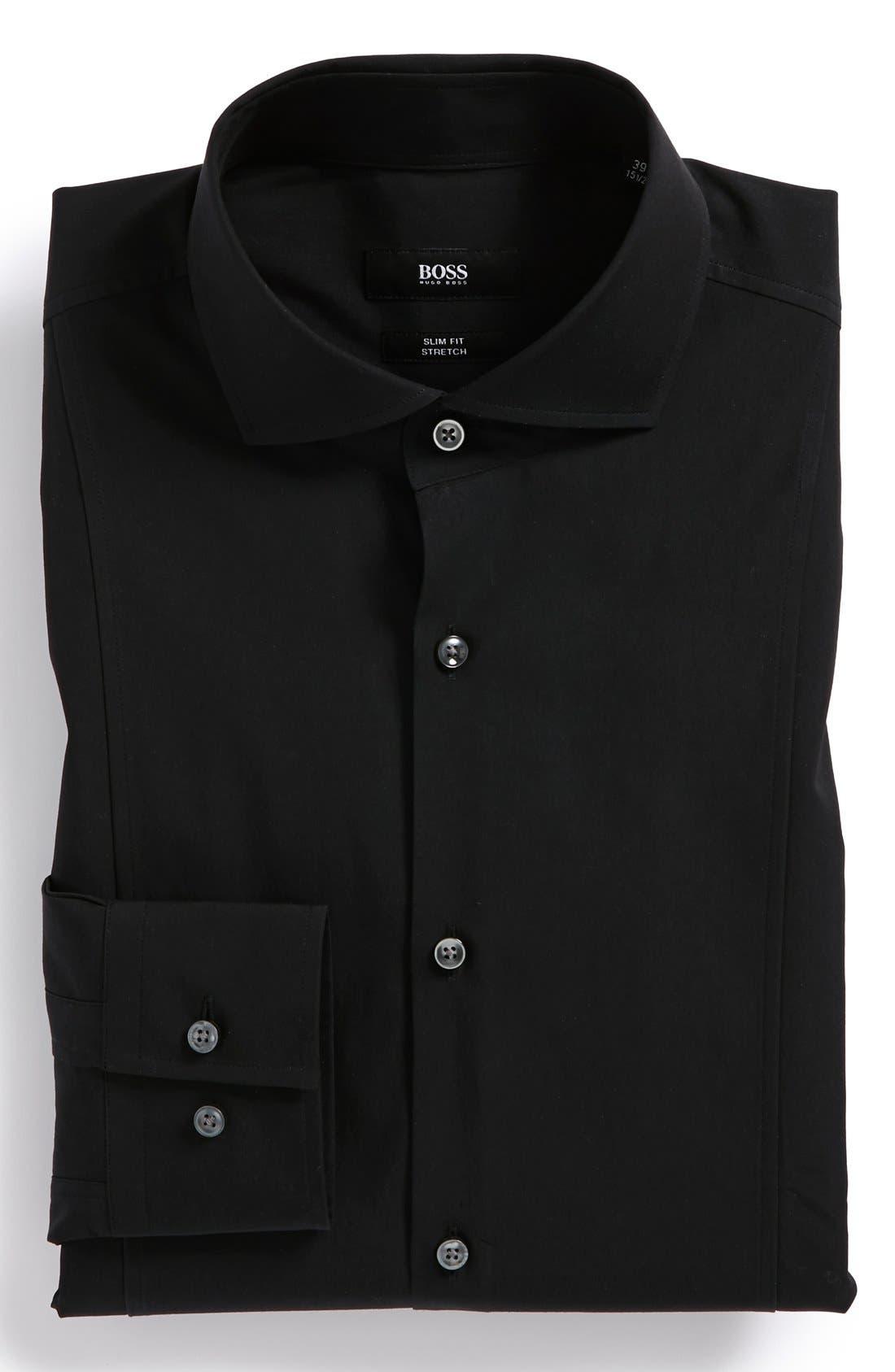 Alternate Image 1 Selected - BOSS HUGO BOSS 'Philip' Slim Fit Stretch Dress Shirt