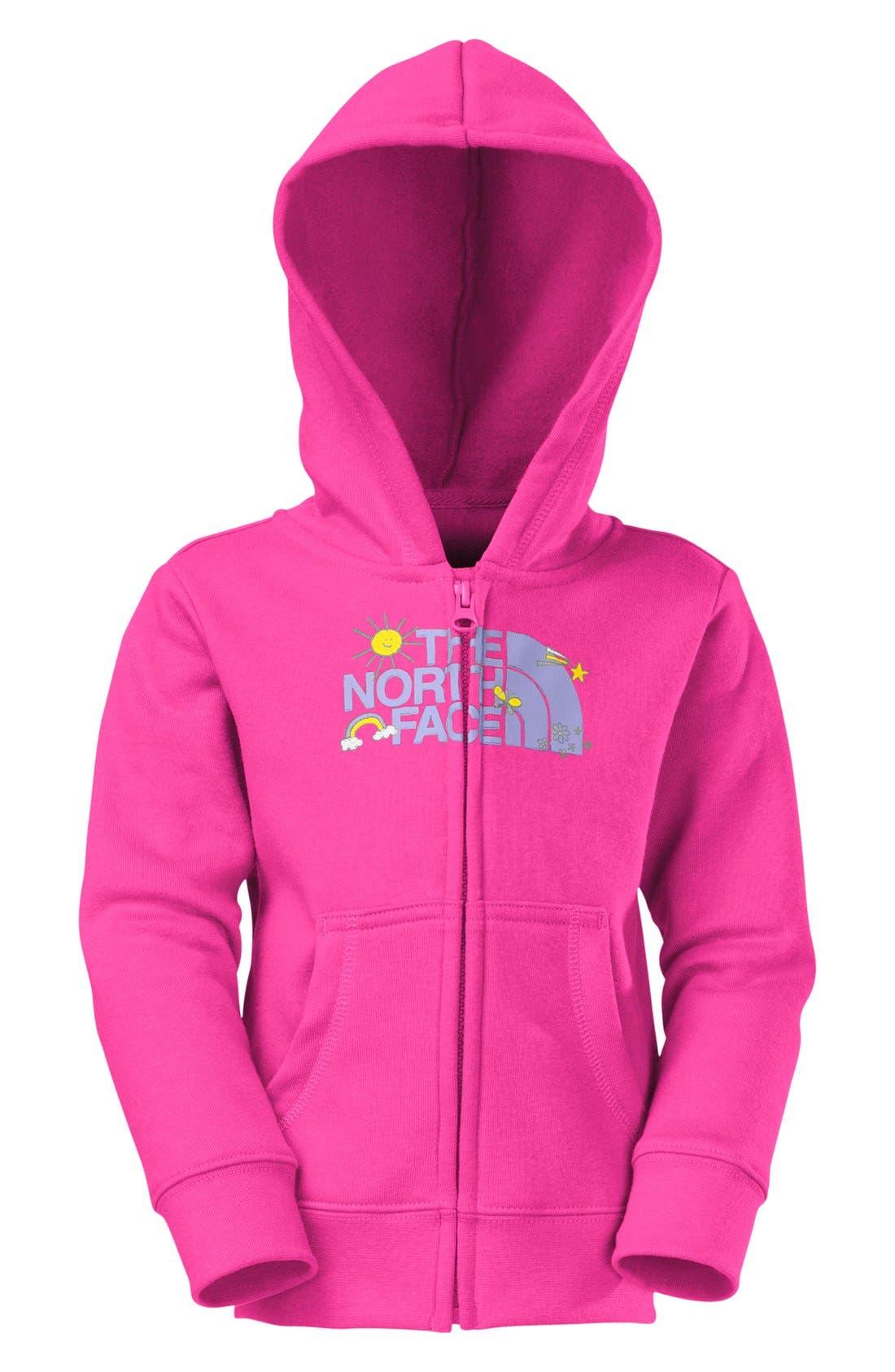 Alternate Image 2  - The North Face Full Zip Hoodie (Toddler Girls)
