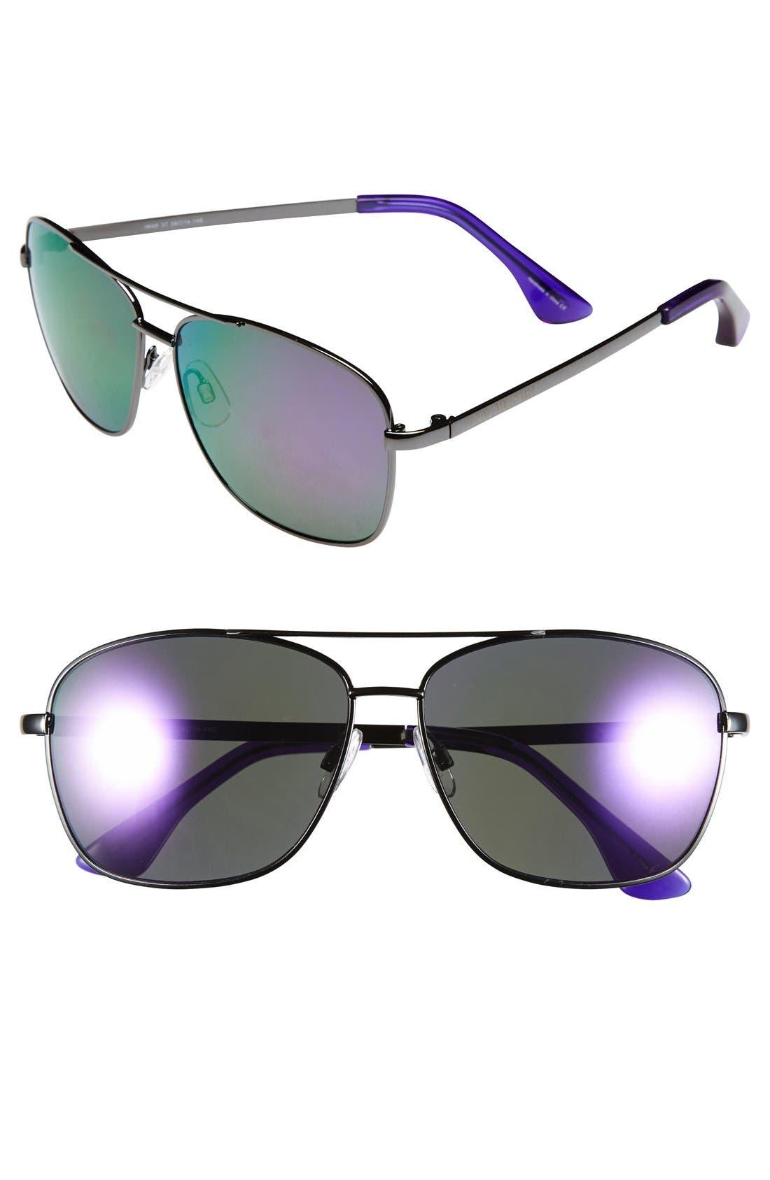 Main Image - Isaac Mizrahi New York 58mm Aviator Sunglasses