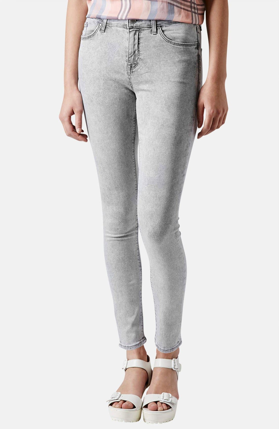Alternate Image 1 Selected - Topshop Moto 'Leigh' Skinny Ankle Jeans
