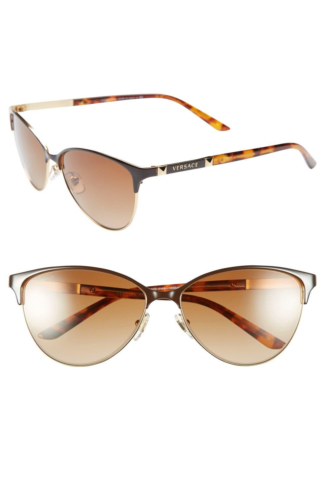 Main Image - Versace 57mm Cat Eye Sunglasses