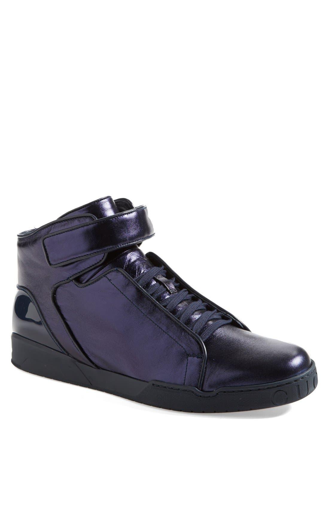 Alternate Image 1 Selected - Gucci 'Mel Mid' Metallic Sneaker