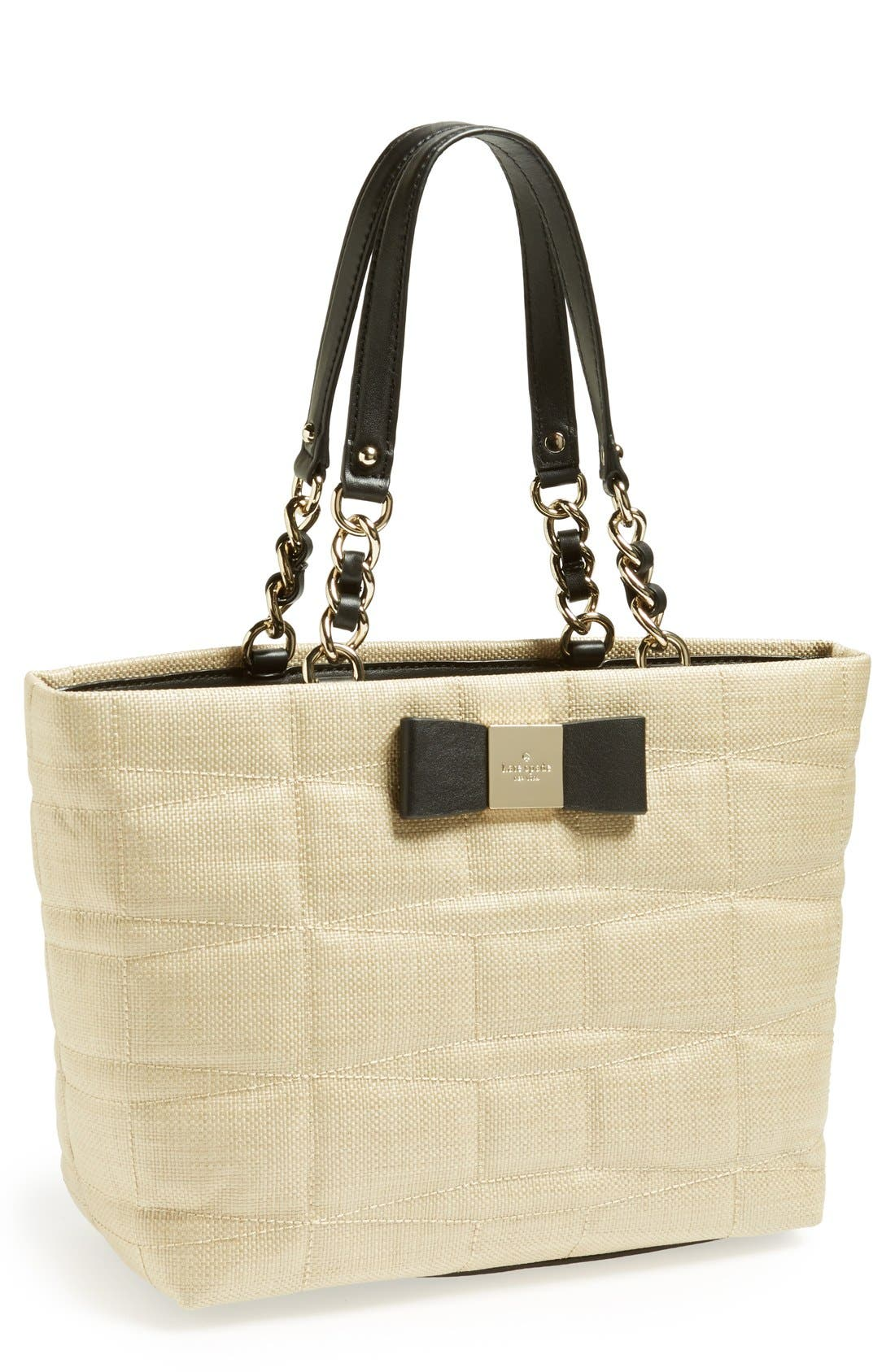 Alternate Image 1 Selected - kate spade new york 'small francis' straw tote