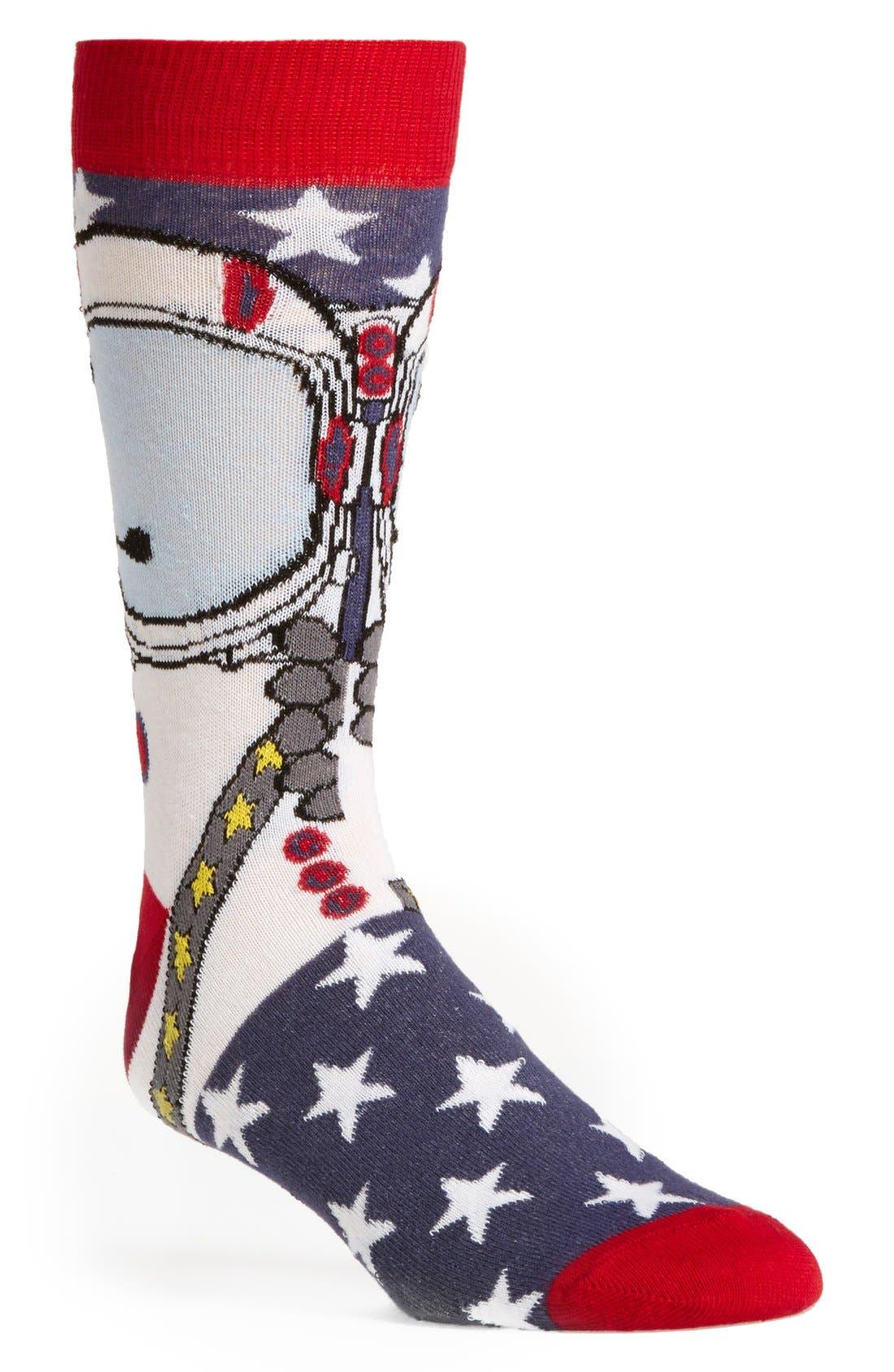 Main Image - Topman Astronaut Pattern Socks
