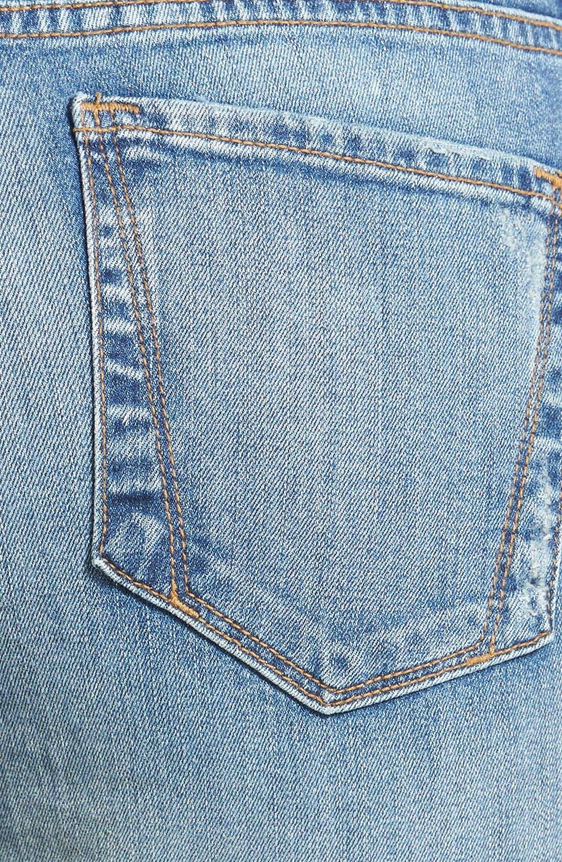 Alternate Image 3  - NYDJ 'Anabelle' Distressed Stretch Skinny Ankle Jeans (Lake Havasu) (Regular & Petite)