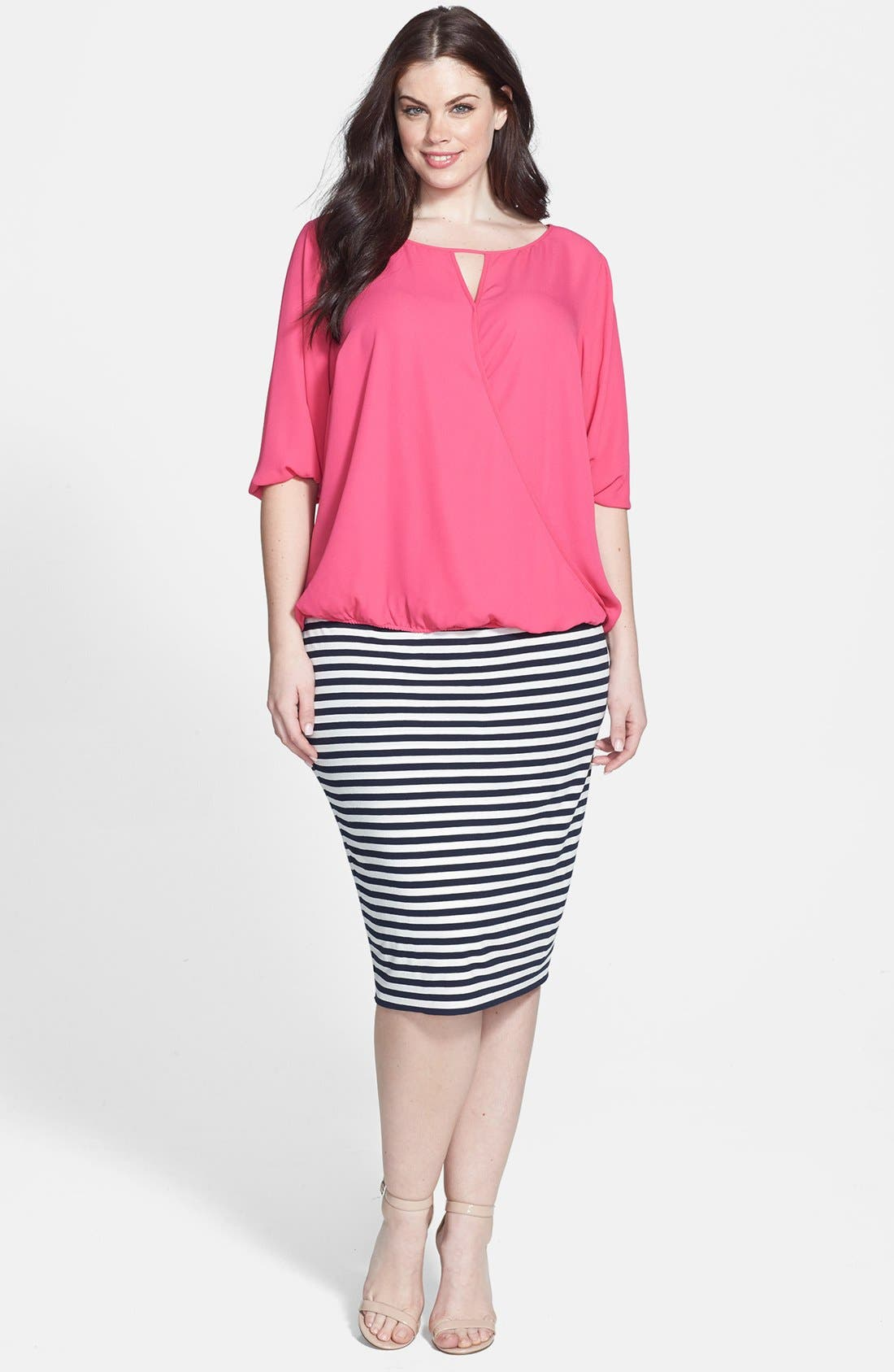 Alternate Image 4  - Vince Camuto Wrap Blouse (Plus Size)