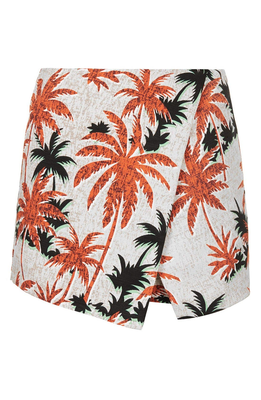 Alternate Image 3  - Topshop Palm Jacquard Skort