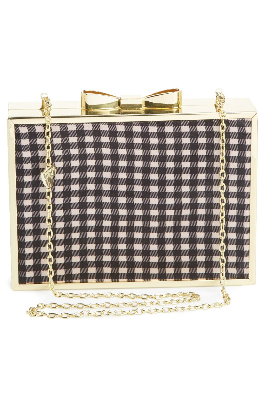 Alternate Image 4  - Betsey Johnson Bow Lock Frame Clutch