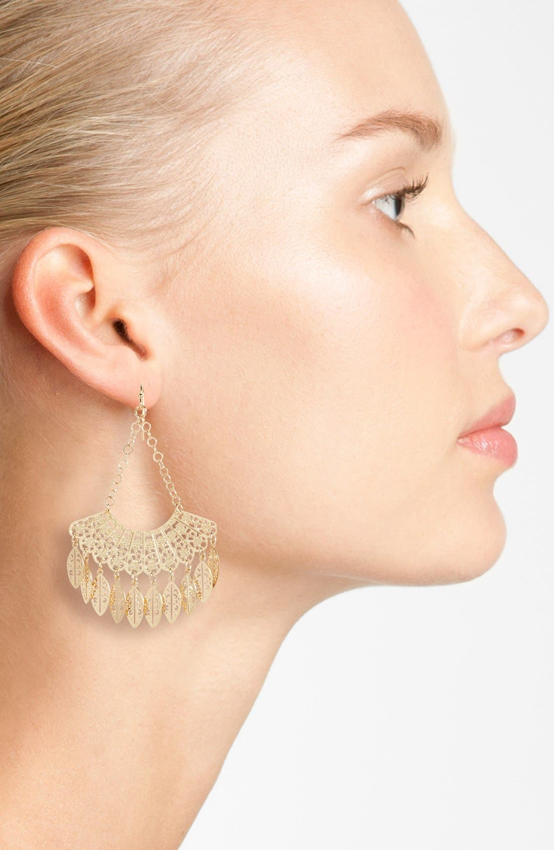 Alternate Image 2  - Nordstrom 'Delicate Lace' Fan Drop Earrings