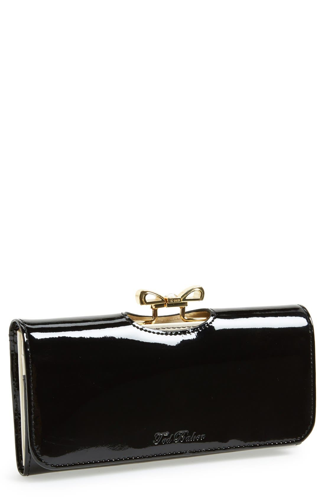 Alternate Image 1 Selected - Ted Baker London 'Crystal Bow Bobble' Matinee Wallet