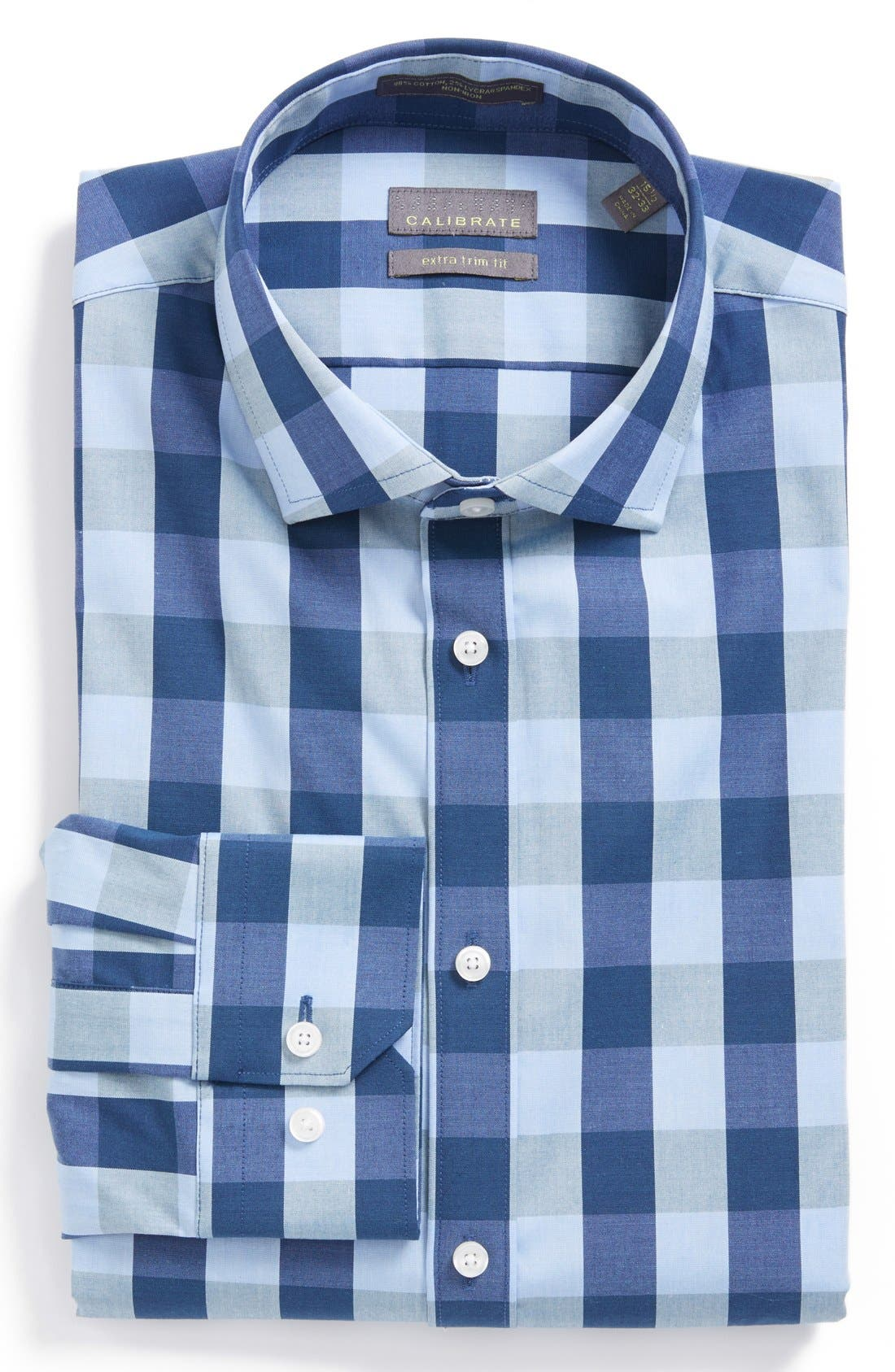 Alternate Image 1 Selected - Calibrate Extra Trim Fit Stretch Dress Shirt