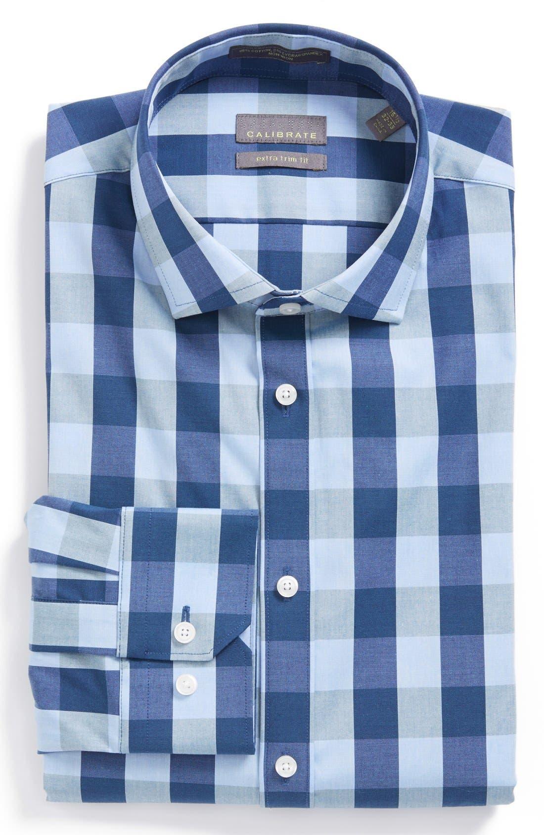 Main Image - Calibrate Extra Trim Fit Stretch Dress Shirt