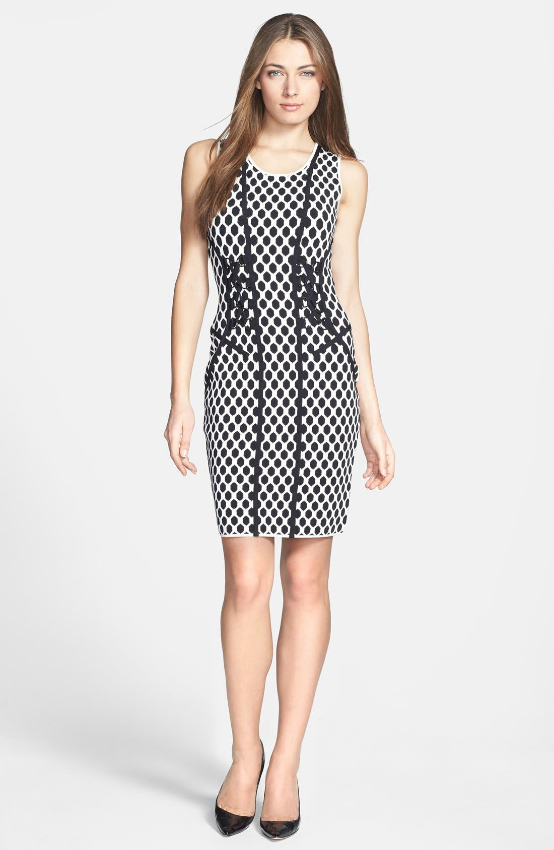 Alternate Image 1 Selected - Diane von Furstenberg 'Lusaka' Knit Body-Con Dress