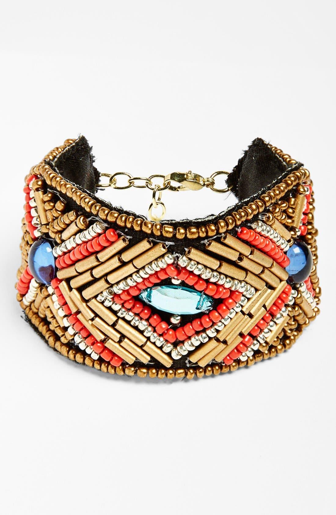 Alternate Image 1 Selected - Leith Seed Bead & Stone Bracelet