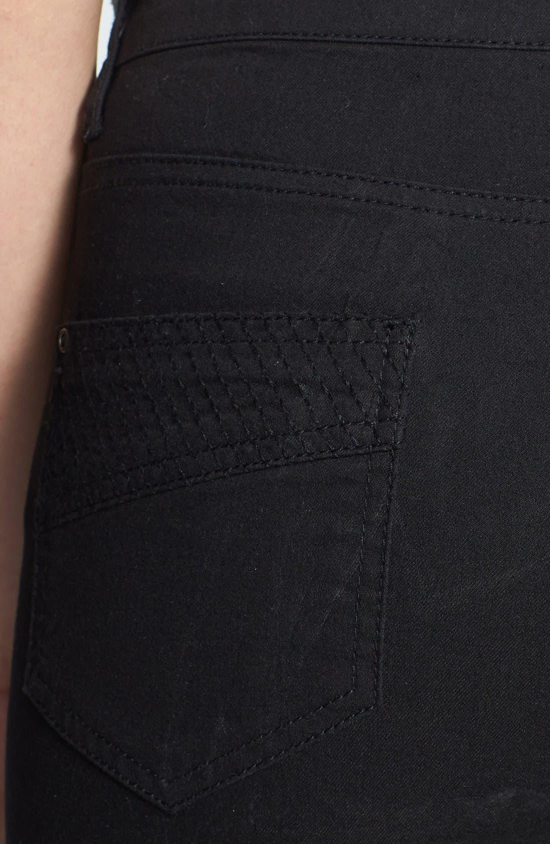 Alternate Image 3  - Wallis Stretch Skinny Jeans (Black)