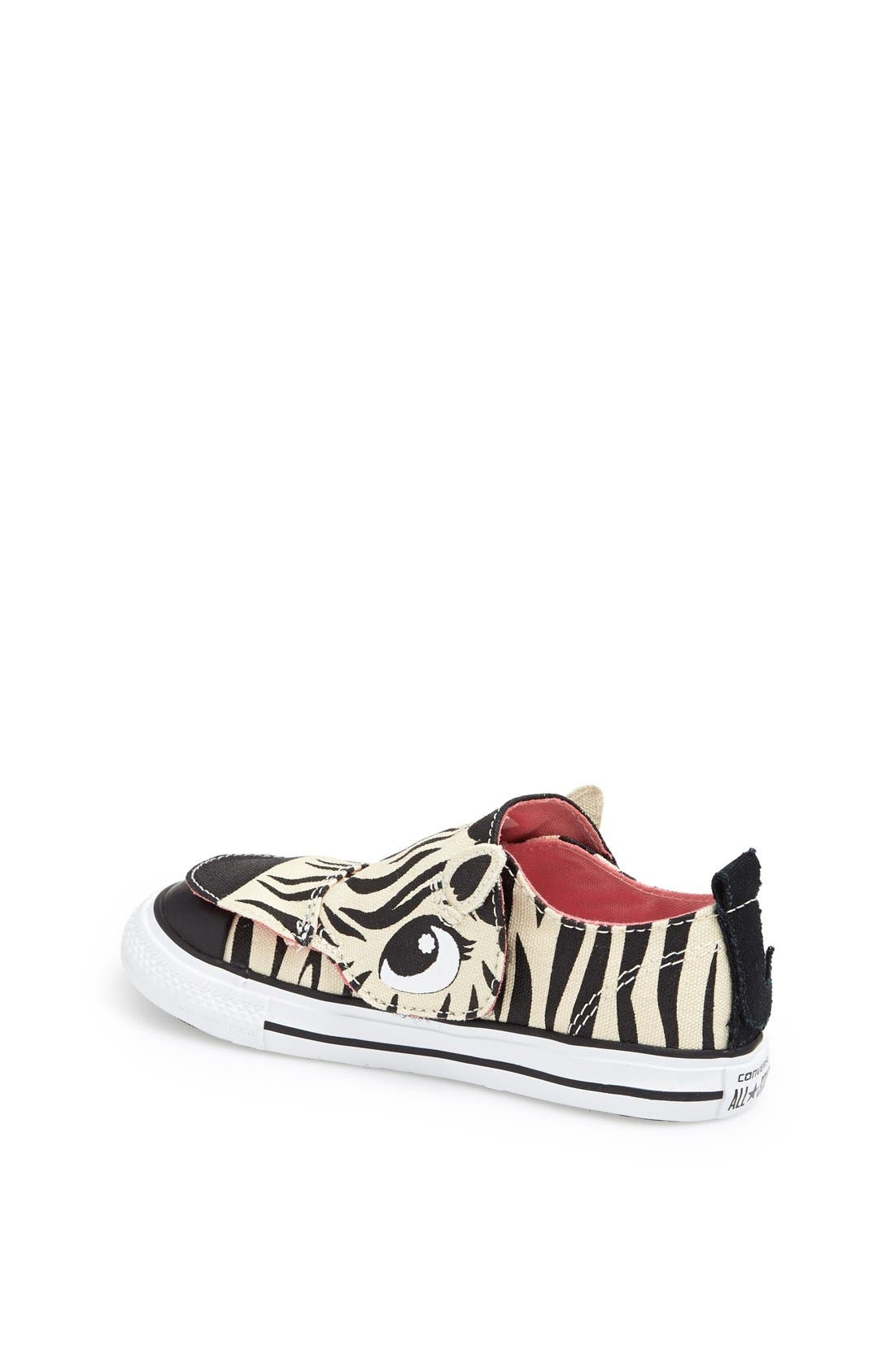 Alternate Image 2  - Converse 'No Problem' Zebra Face Sneaker (Baby, Walker & Toddler)