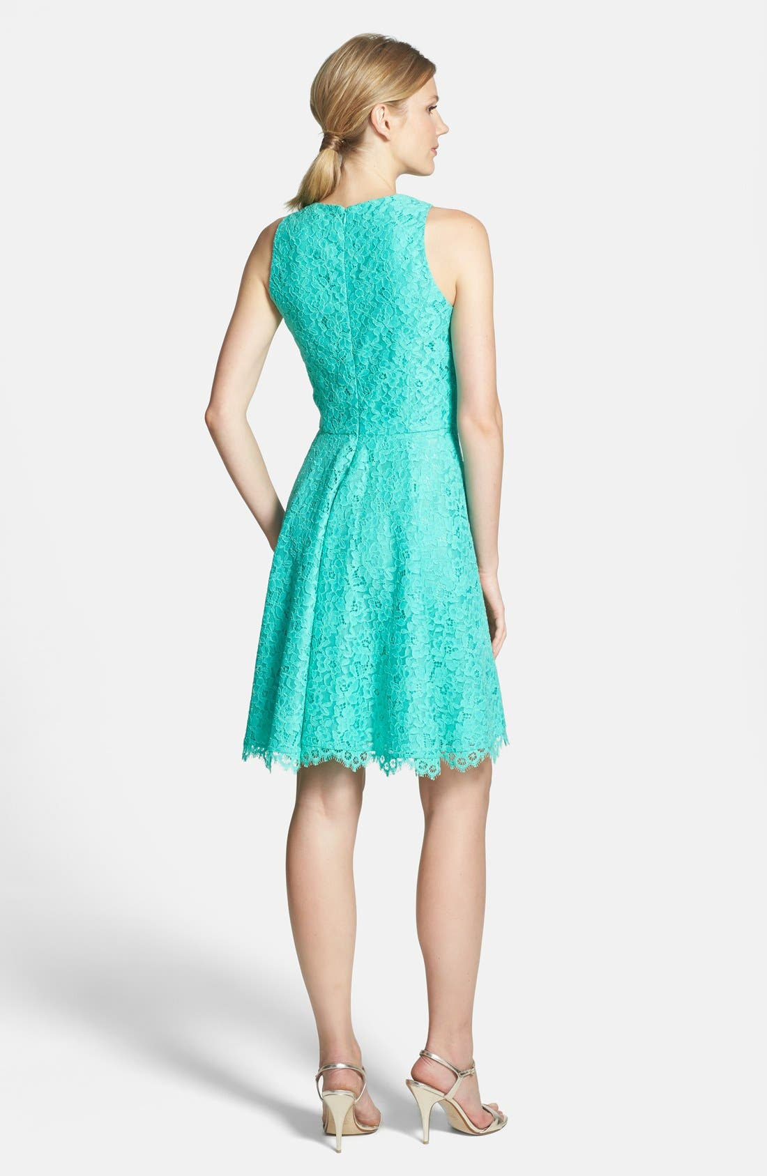 Alternate Image 2  - Shoshanna 'Judith' Lace Fit & Flare Dress