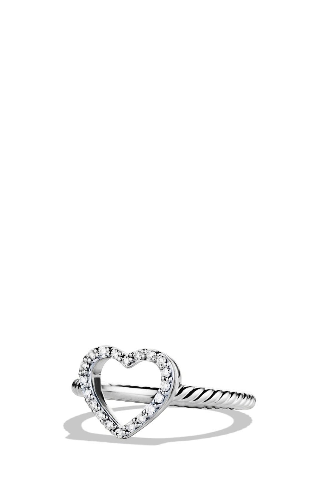 Alternate Image 1 Selected - David Yurman 'Cable Collectibles' Heart Ring with Diamonds