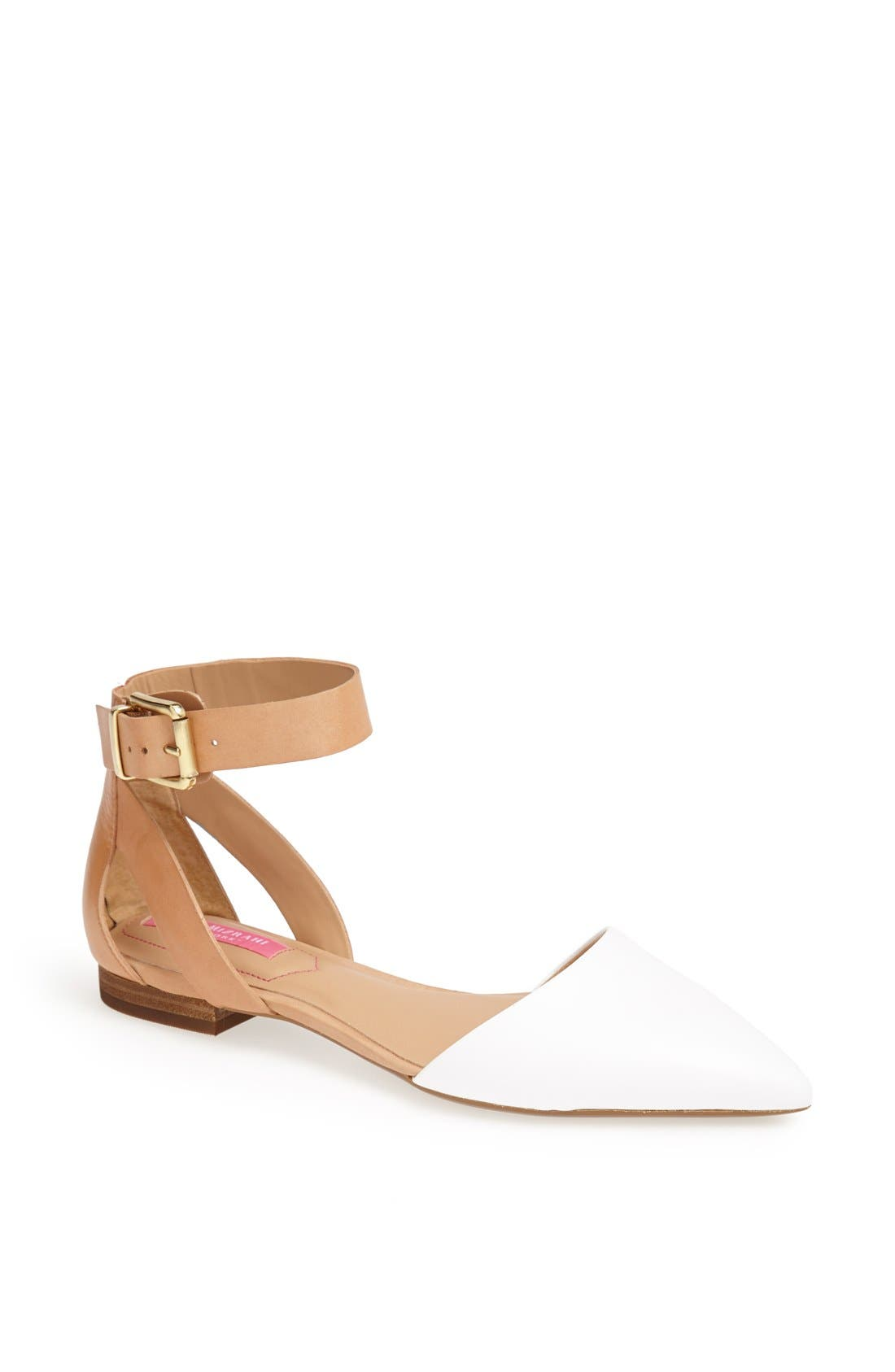 Alternate Image 1 Selected - Isaac Mizrahi New York 'Evelyn' Leather Flat