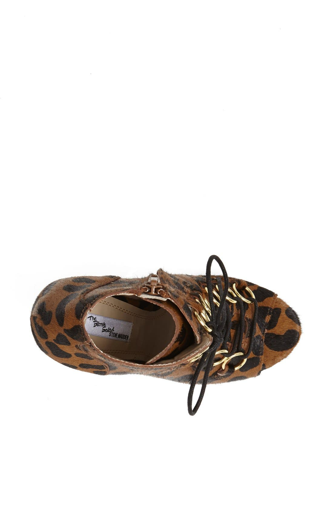 Alternate Image 3  - The Blonde Salad x Steve Madden 'Milan' Leopard Print Calf Hair Peep Toe Bootie