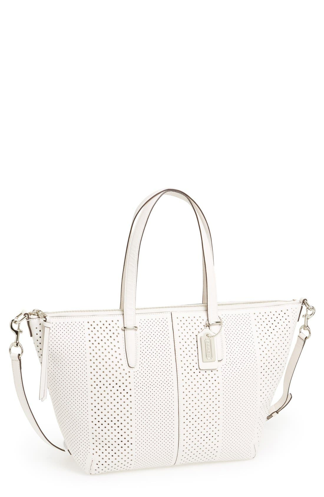 Alternate Image 1 Selected - COACH 'Bleecker' Perforated Leather Satchel