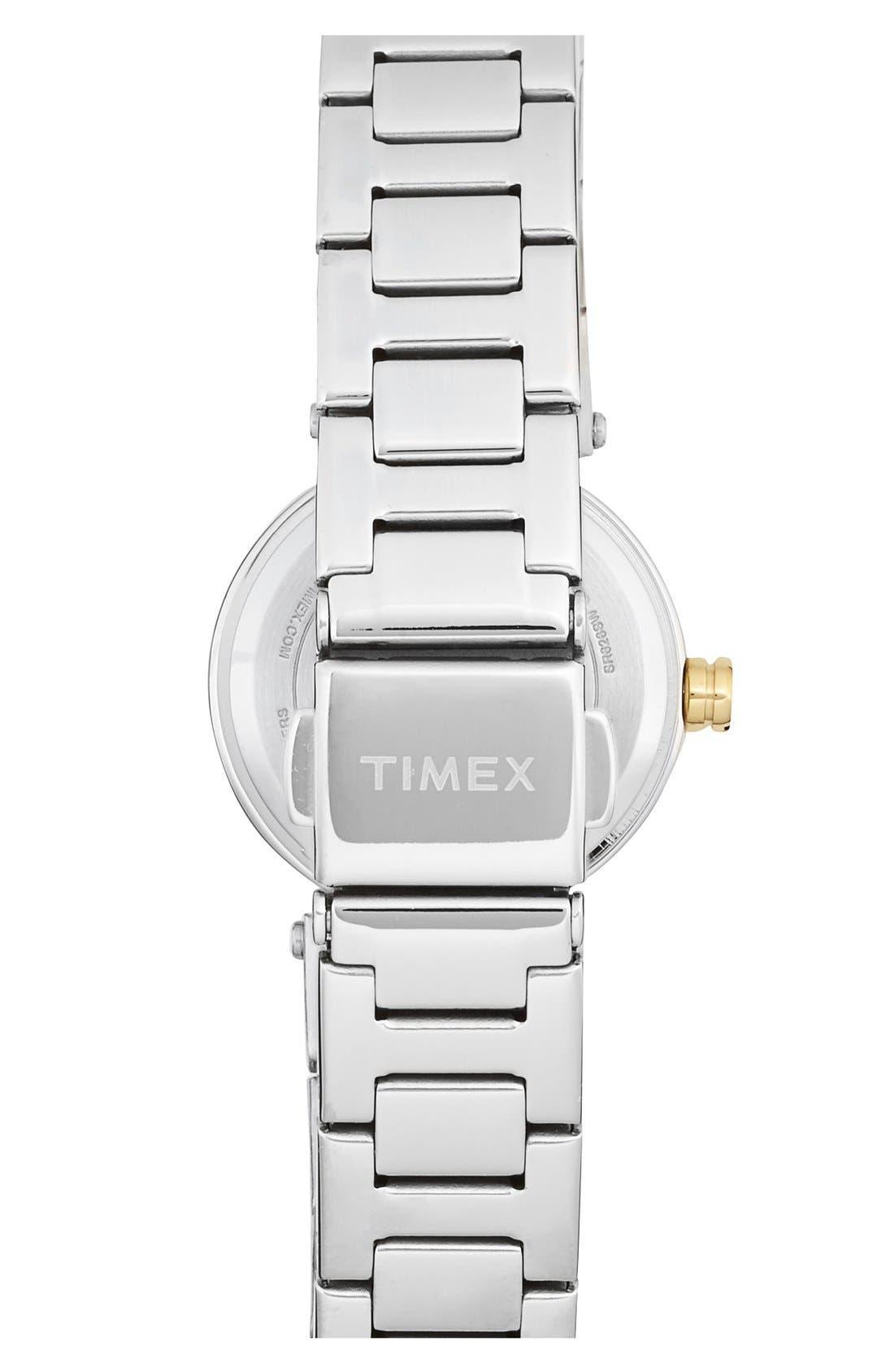 Alternate Image 2  - Timex® 'Starlight' Crystal Bezel Bracelet Watch, 24mm