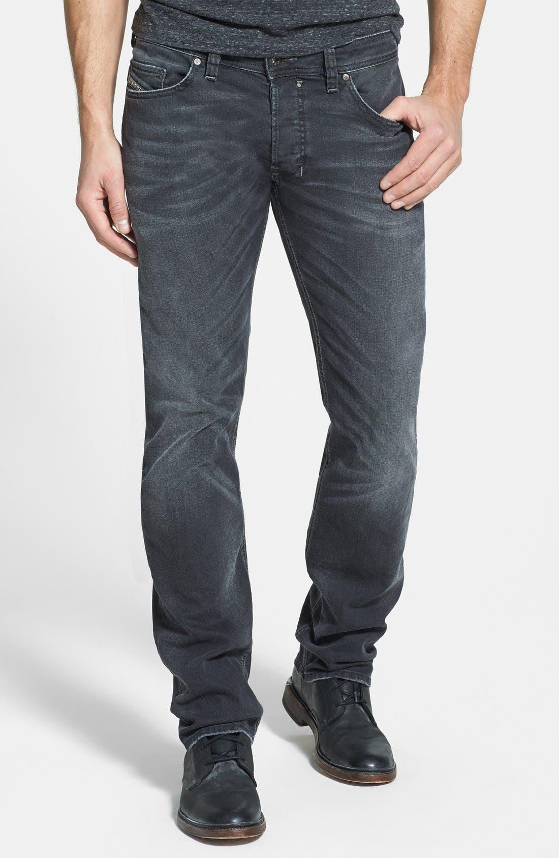 Alternate Image 1 Selected - DIESEL® 'Safado' Slim Fit Jeans (Black)