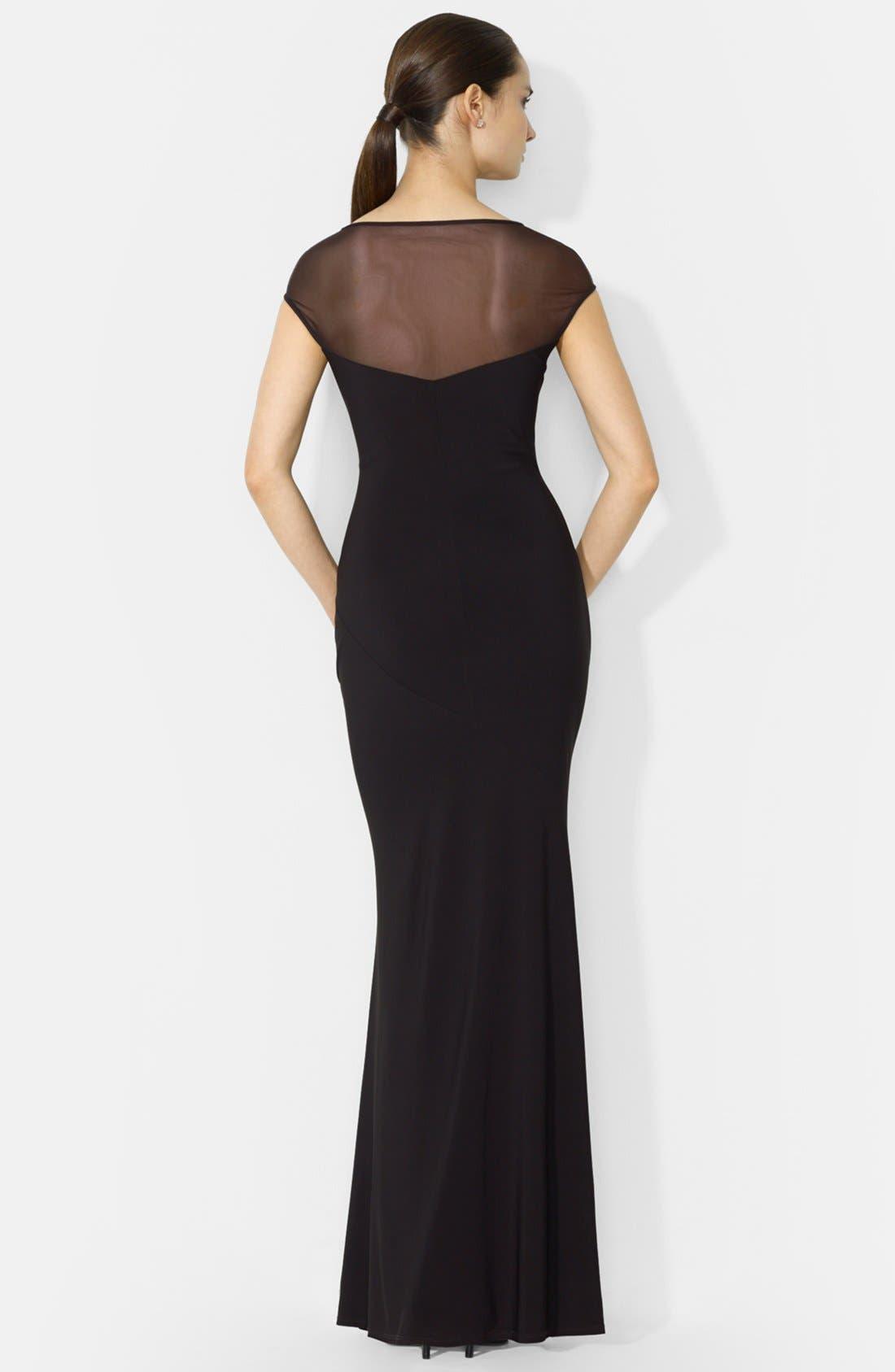 Alternate Image 2  - Lauren Ralph Lauren Matte Jersey Gown