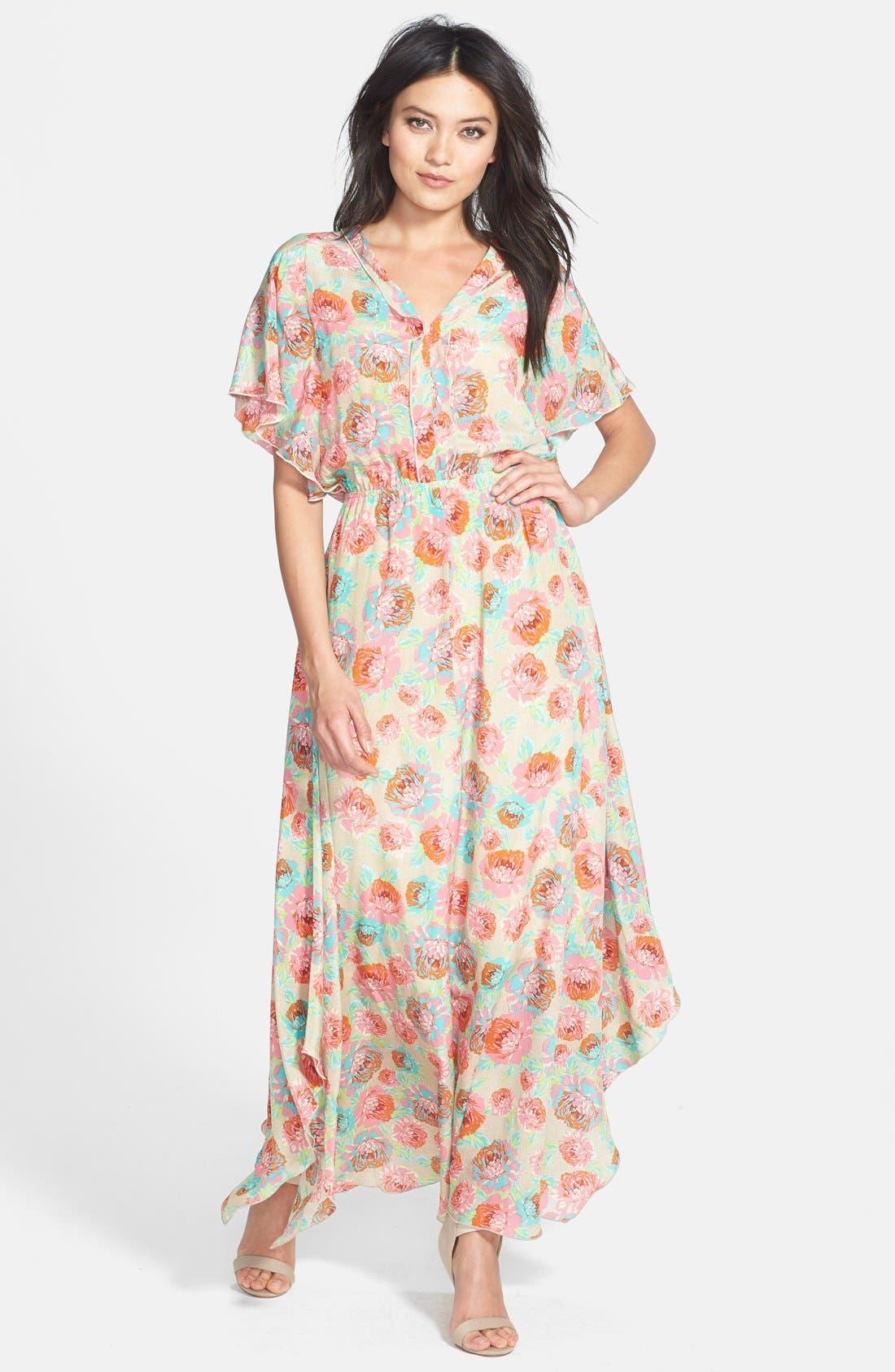 Main Image - Ella Moss 'Delilah' Floral Silk Maxi Dress