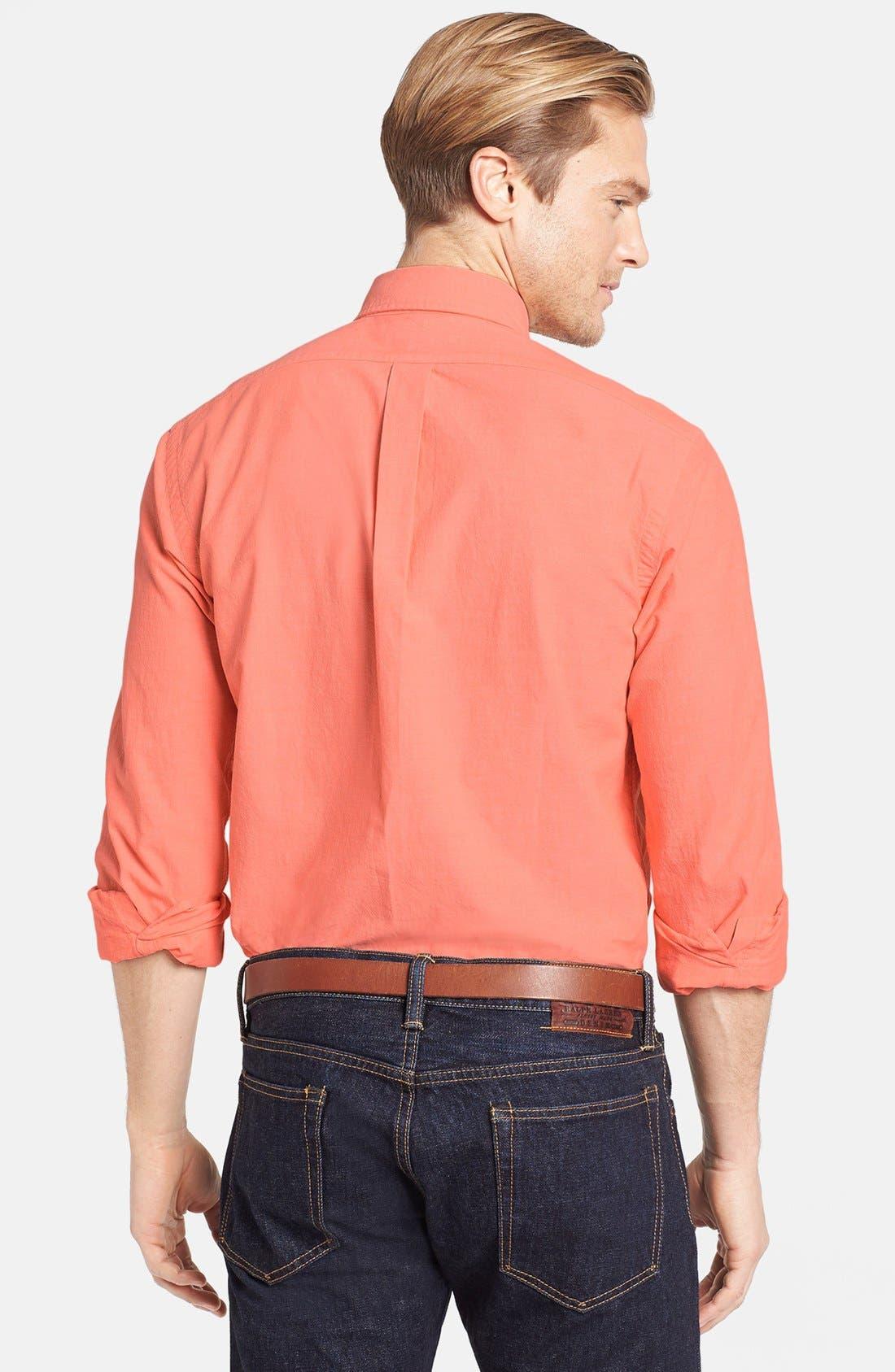 Alternate Image 2  - Polo Ralph Lauren Custom Fit Chambray Sport Shirt