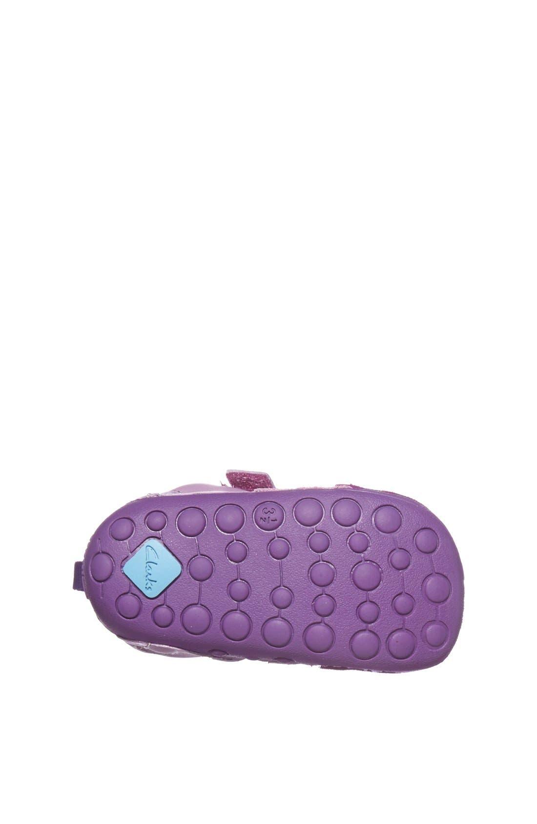Alternate Image 4  - Clarks® 'Tiny Girl' Leather Sandal (Baby & Walker)