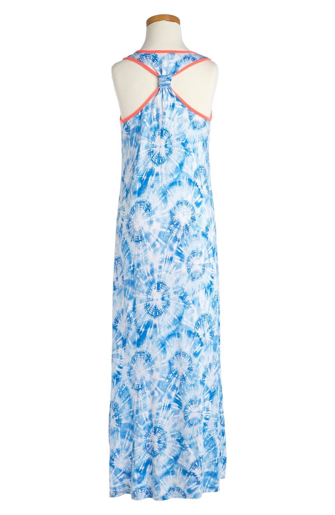 Alternate Image 2  - Soprano Tie Dye Maxi Dress (Big Girls)