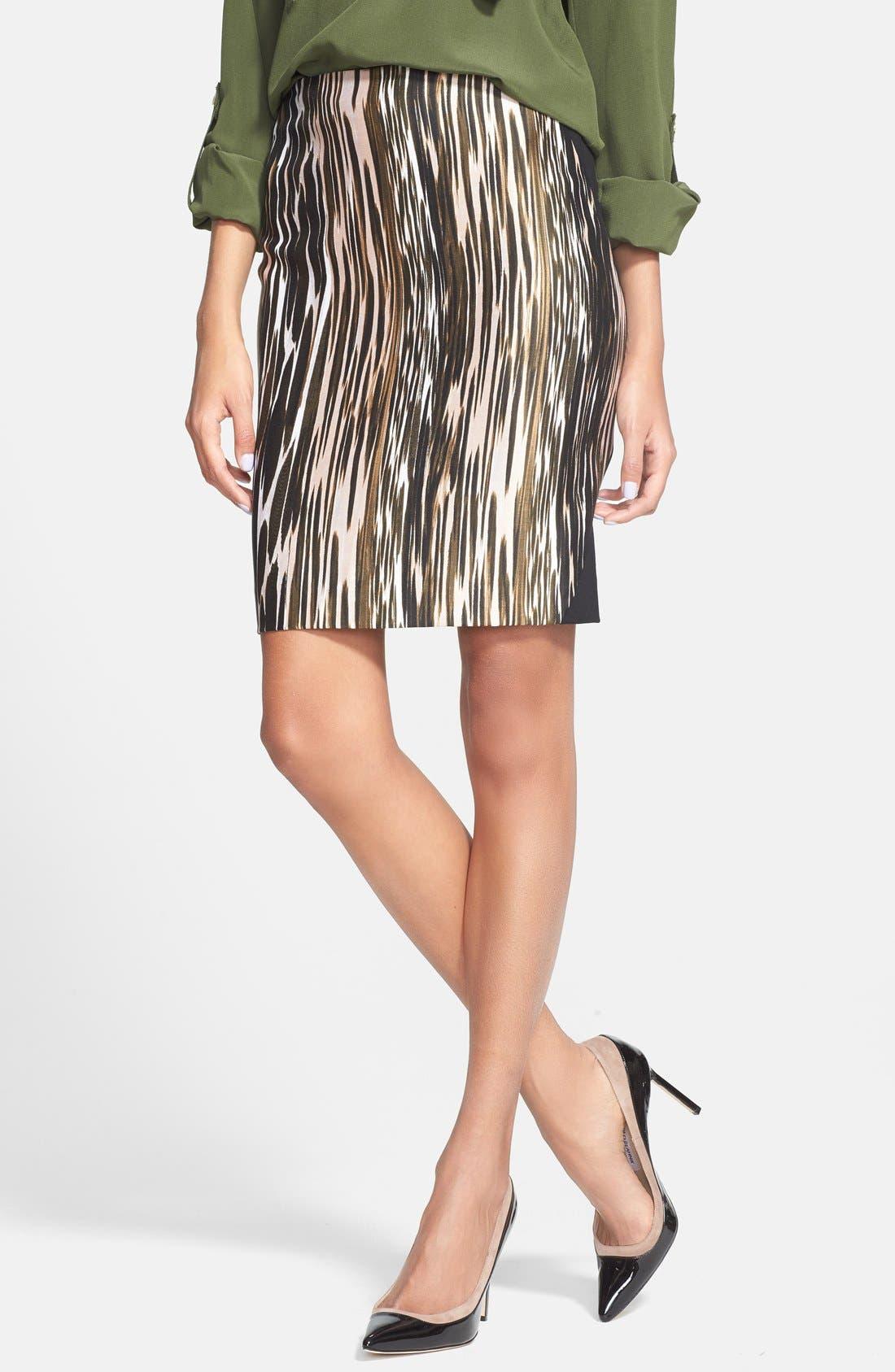 Alternate Image 1 Selected - Diane von Furstenberg 'Mae' Mikado Pencil Skirt