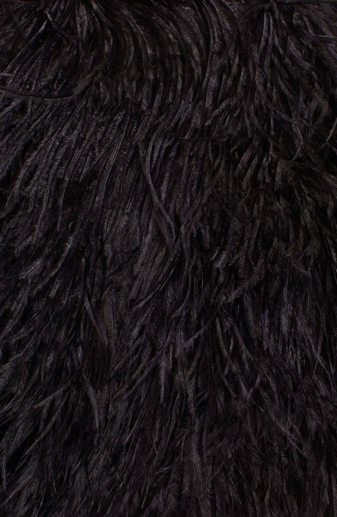 Alternate Image 3  - Robert Rodriguez Faux Ostrich Feather Miniskirt