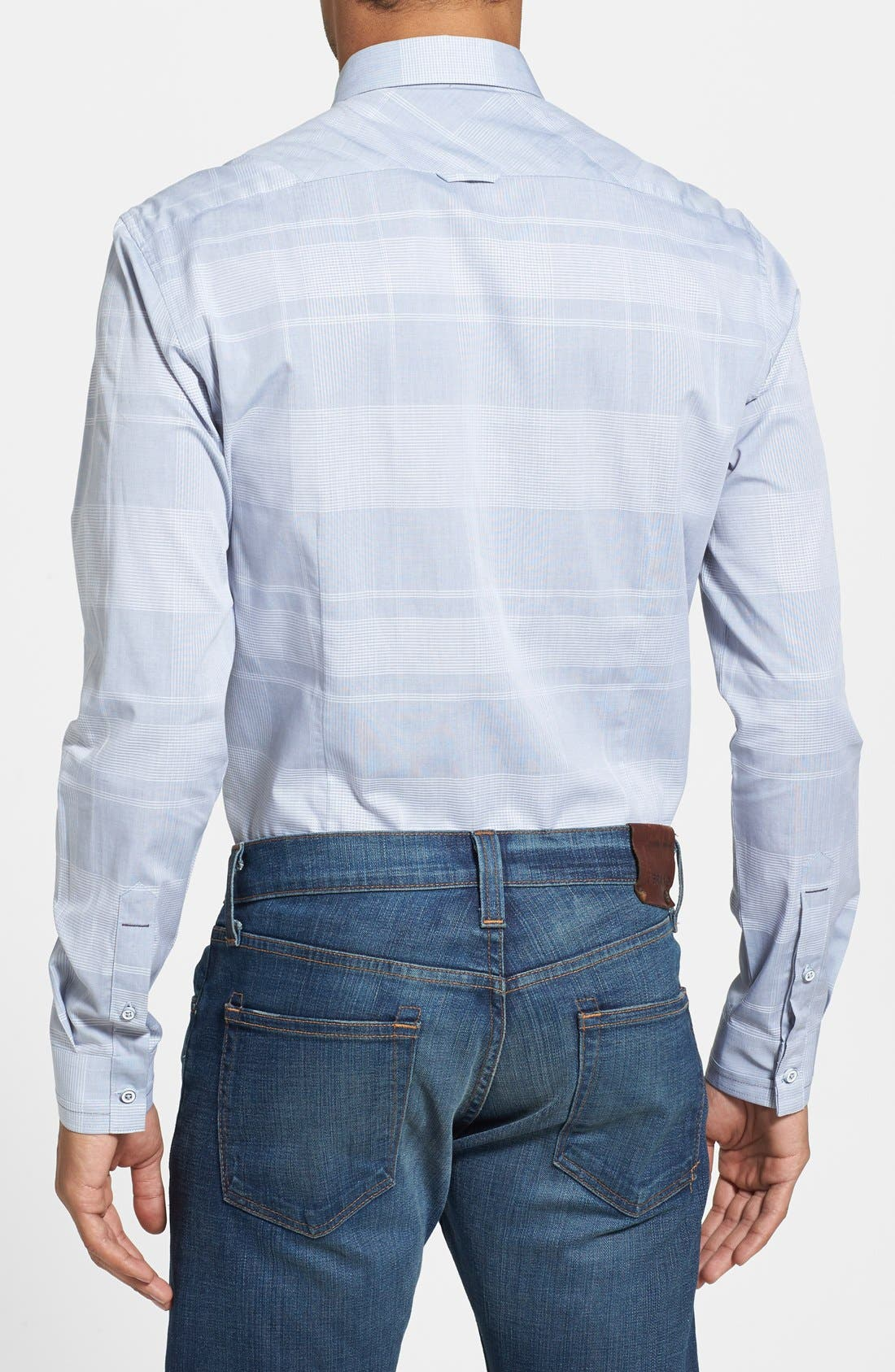 Alternate Image 2  - 7 Diamonds 'Seven Seas' Trim Fit Tonal Plaid Sport Shirt