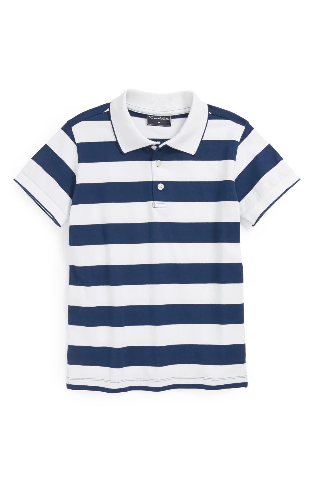 Alternate Image 1 Selected - Oscar de la Renta Wide Stripe Polo (Toddler Boys, Little Boys & Big Boys)